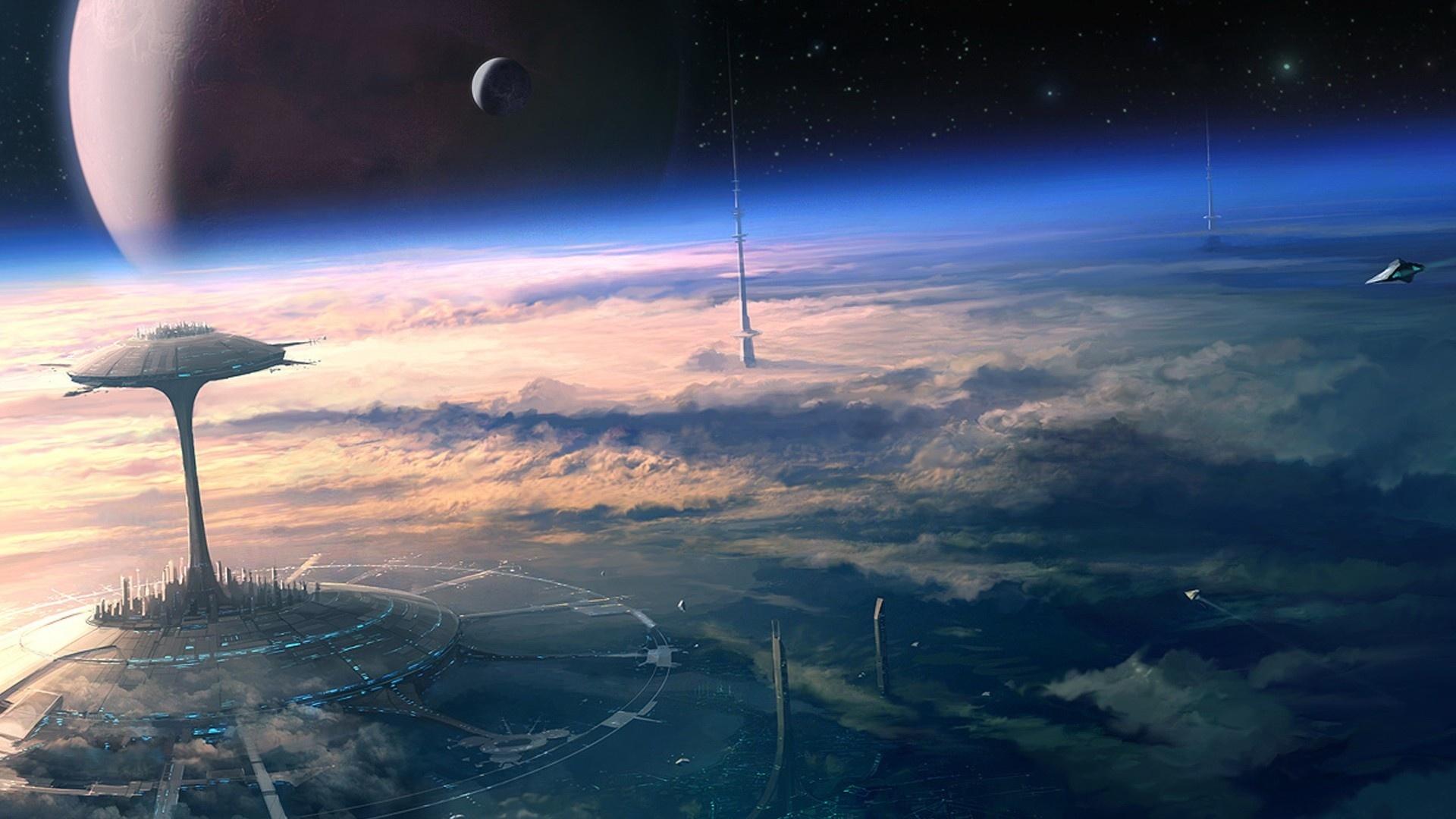 Alien Planet Art wallpaper photo hd