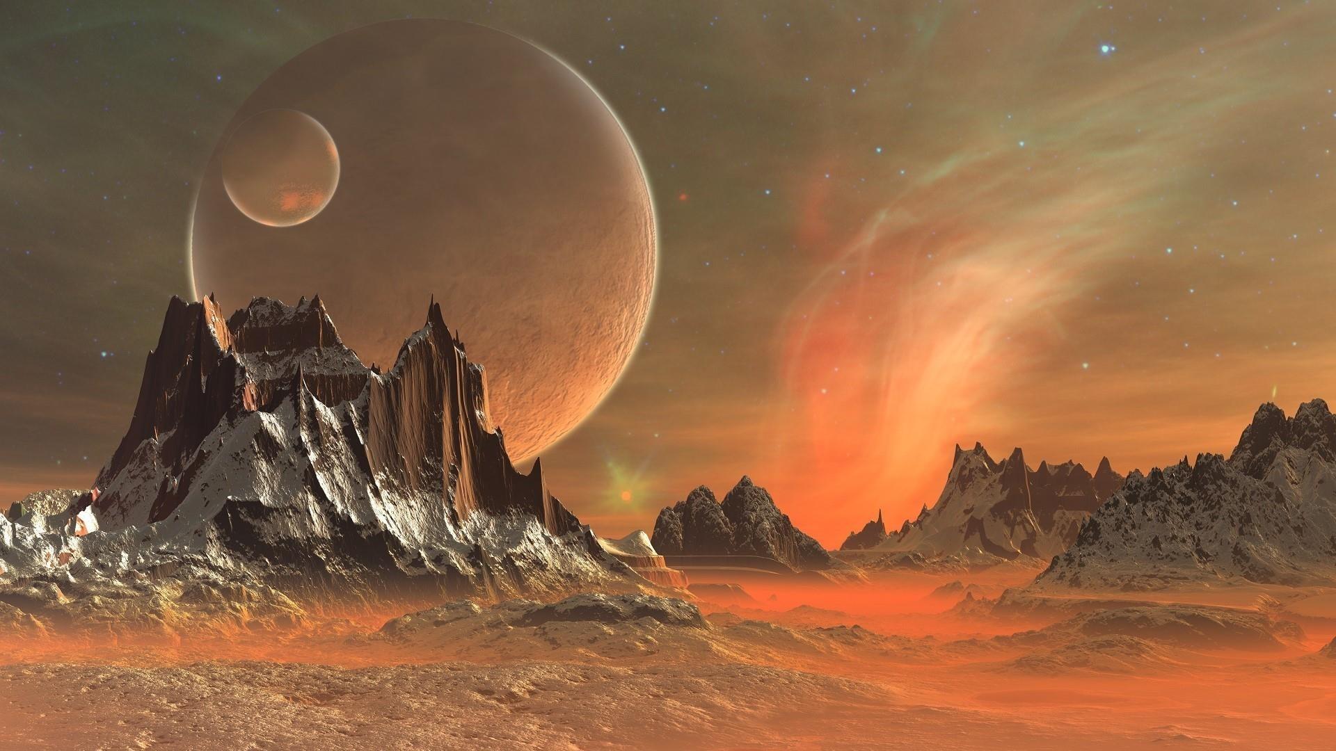 Alien Planet Art wallpaper for computer