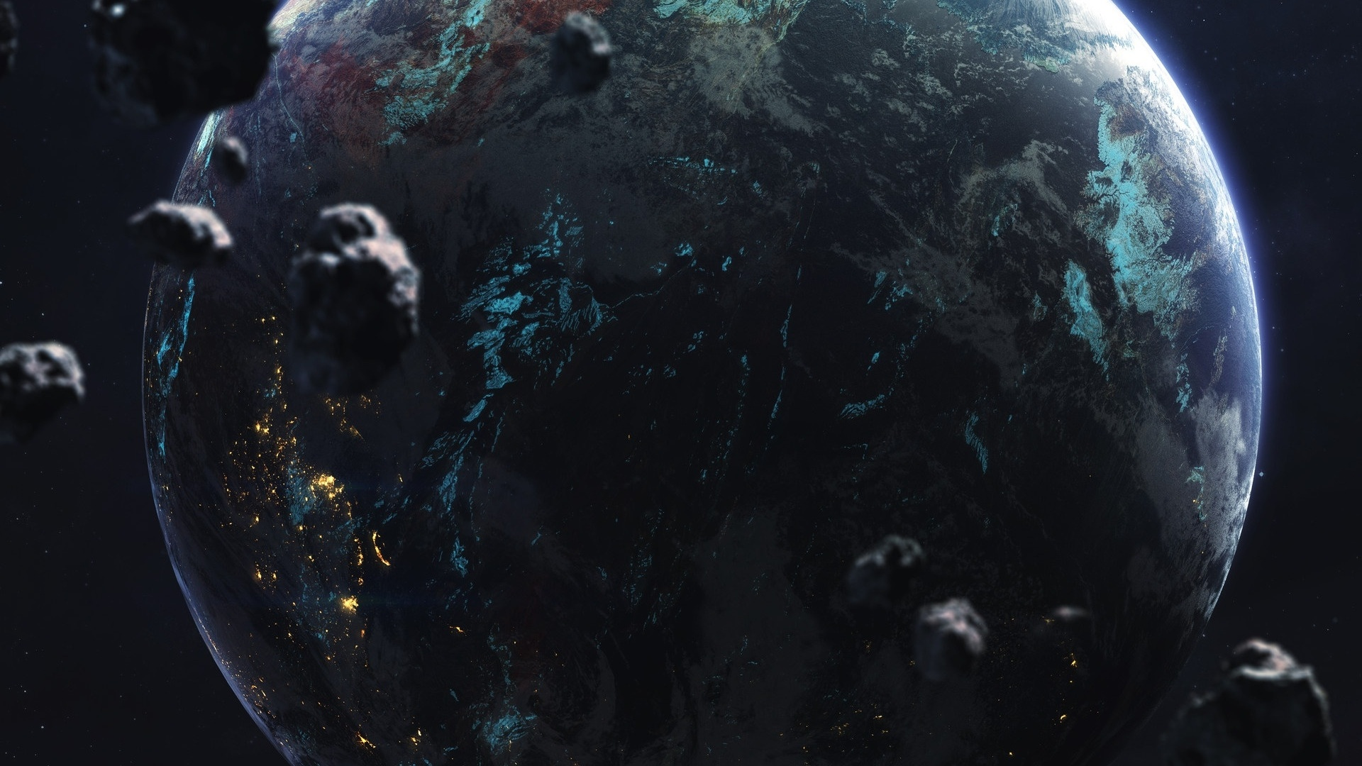 Alien Planet Art Background