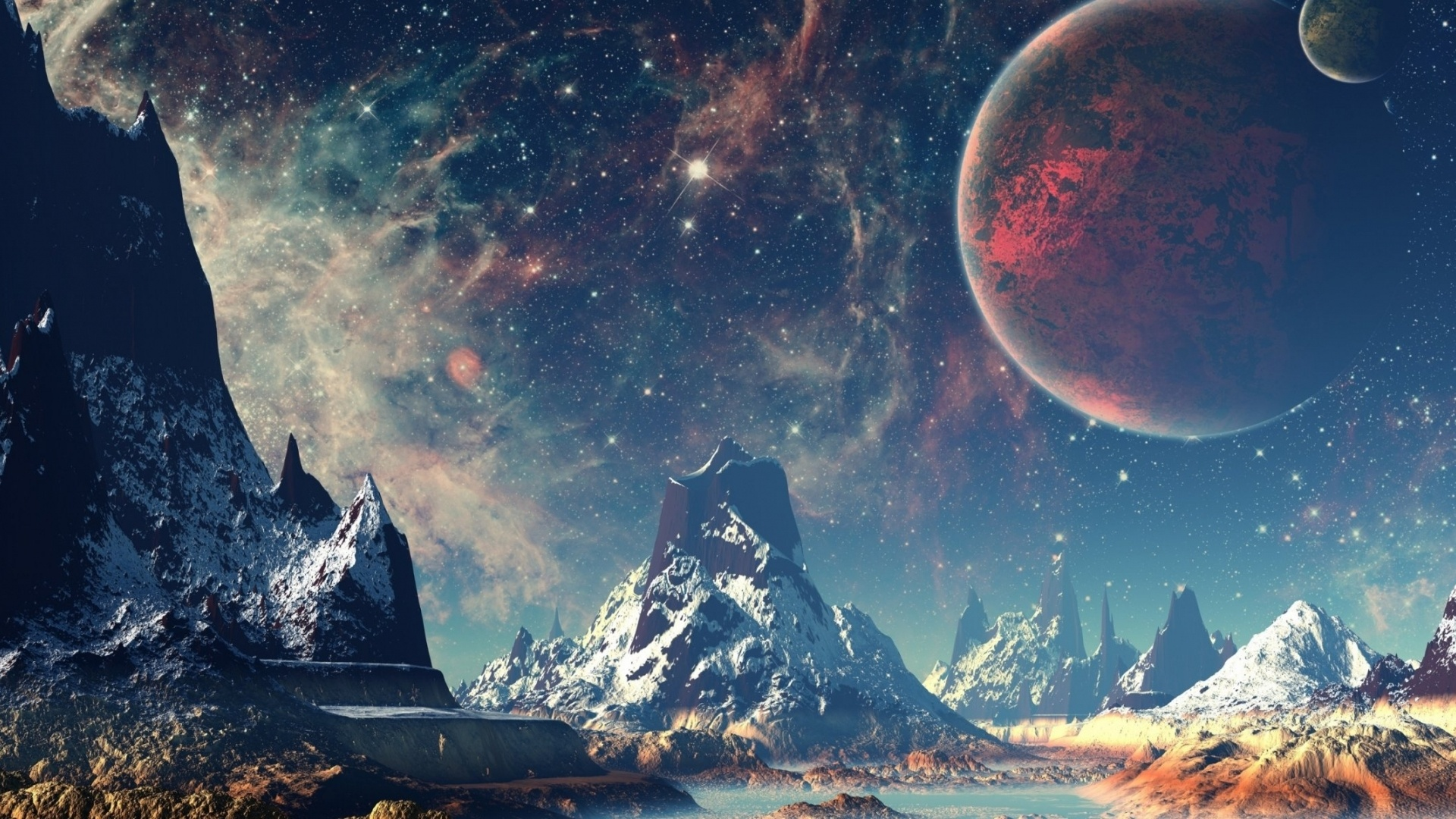Alien Planet Art Image