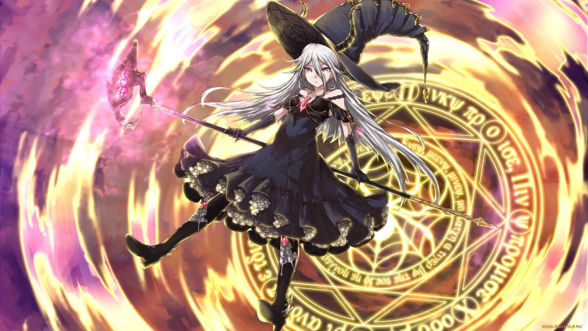 Anime Girl Magician Pic