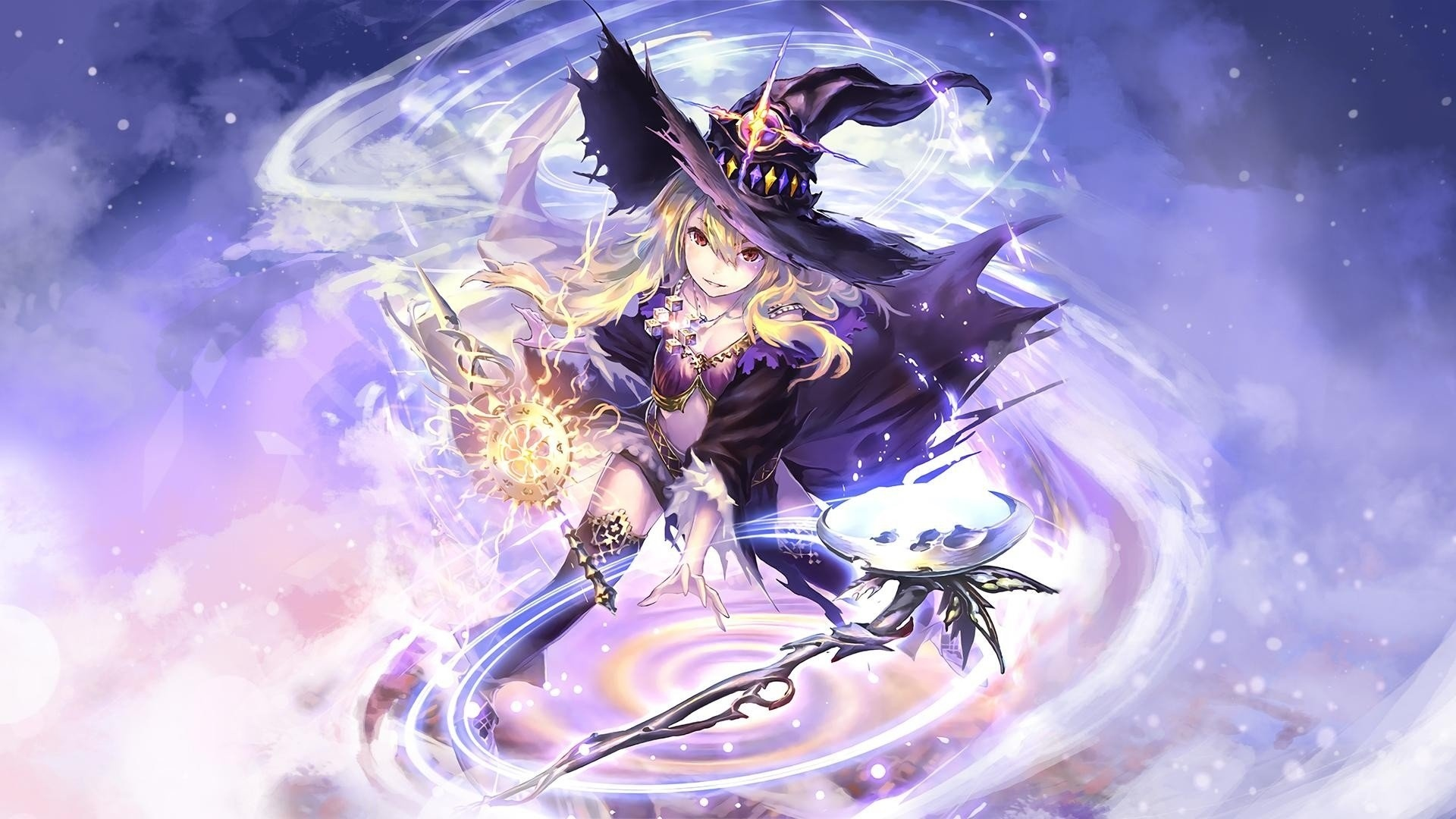Anime Girl Magician Background