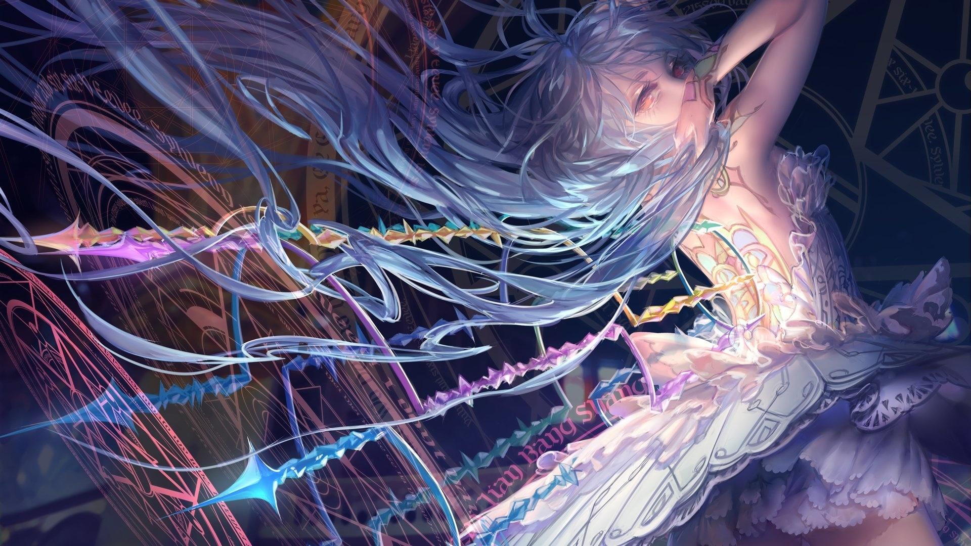 Anime Girl Magician wallpaper for pc