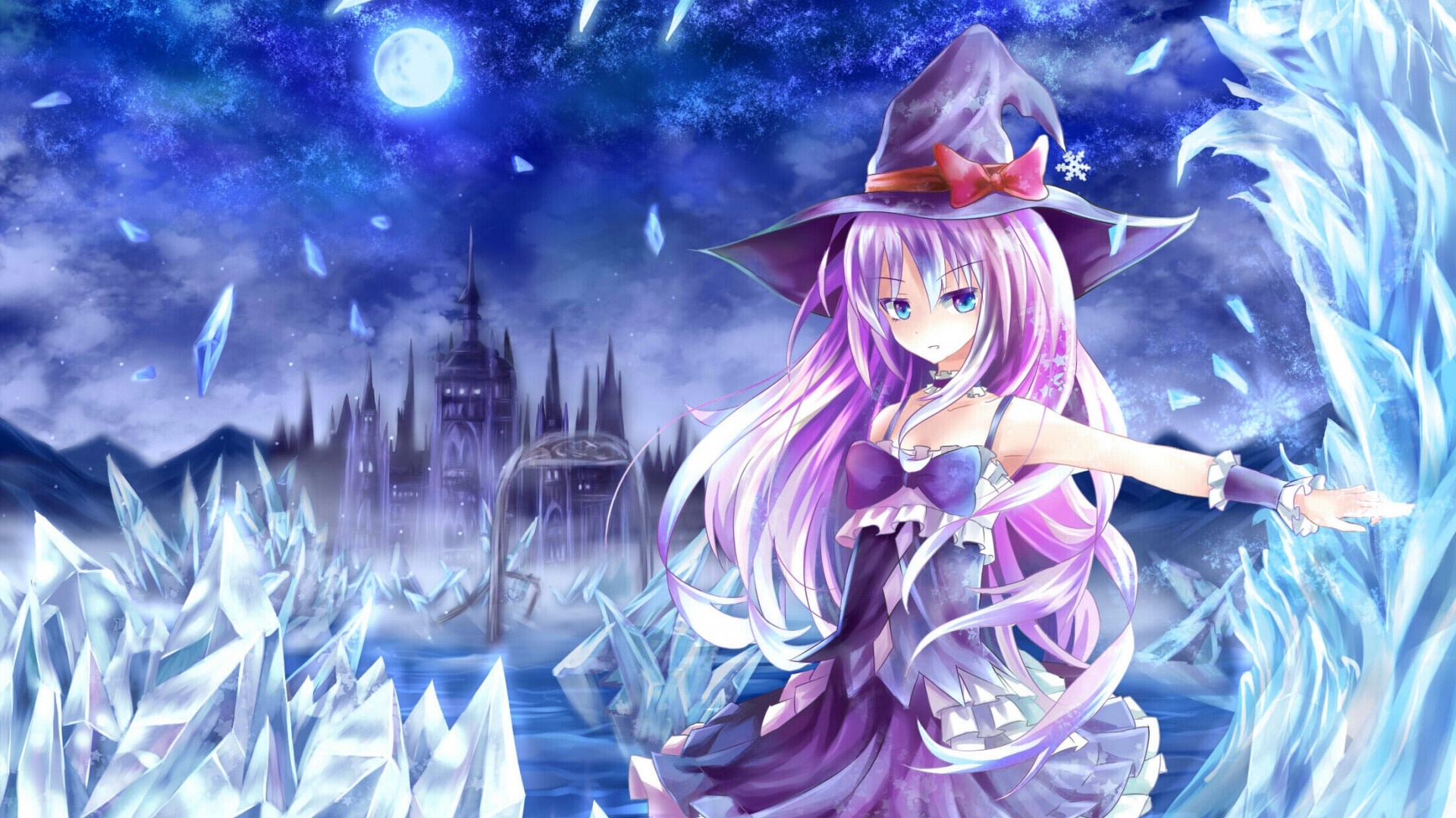 Anime Girl Magician Desktop Wallpaper