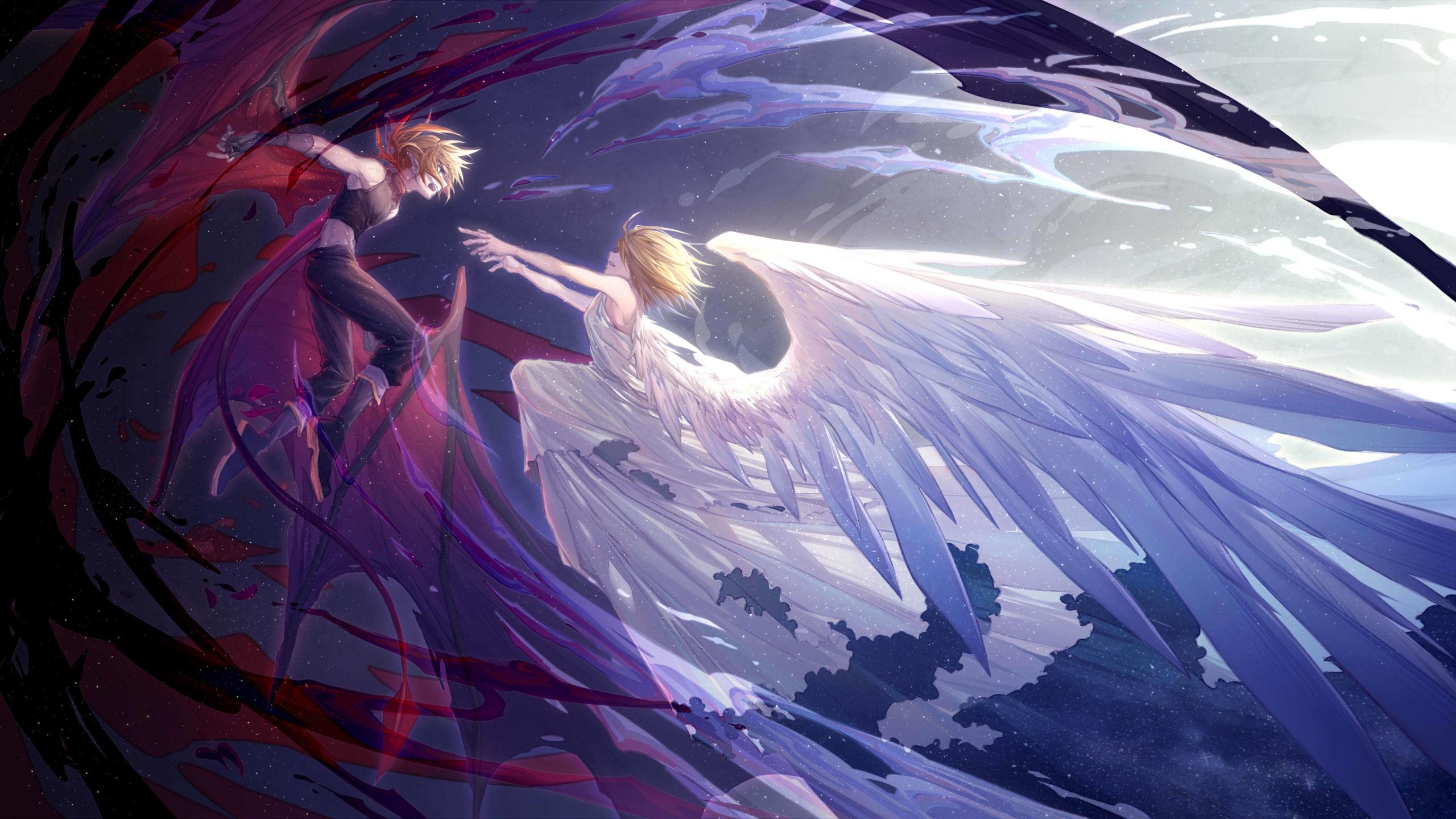 Anime Girls Flying Image