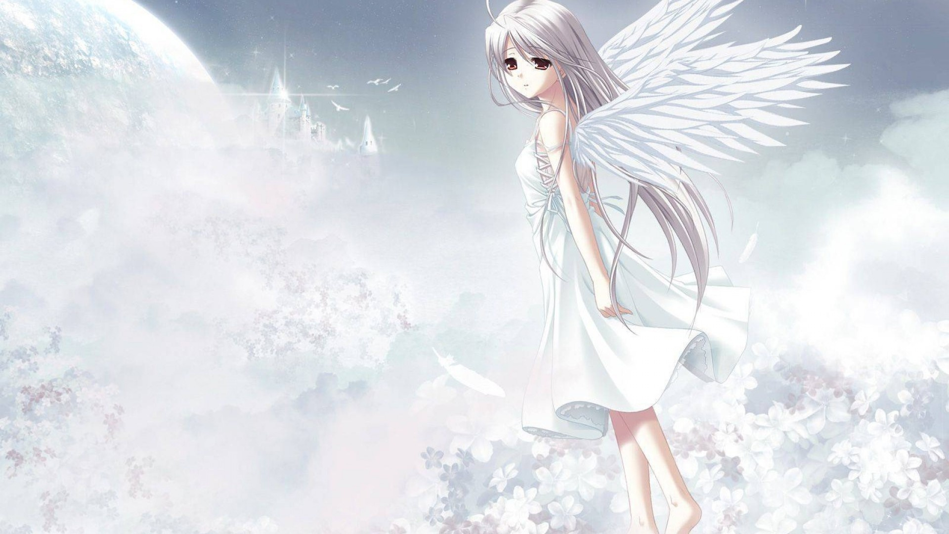 Anime Girls Flying Picture