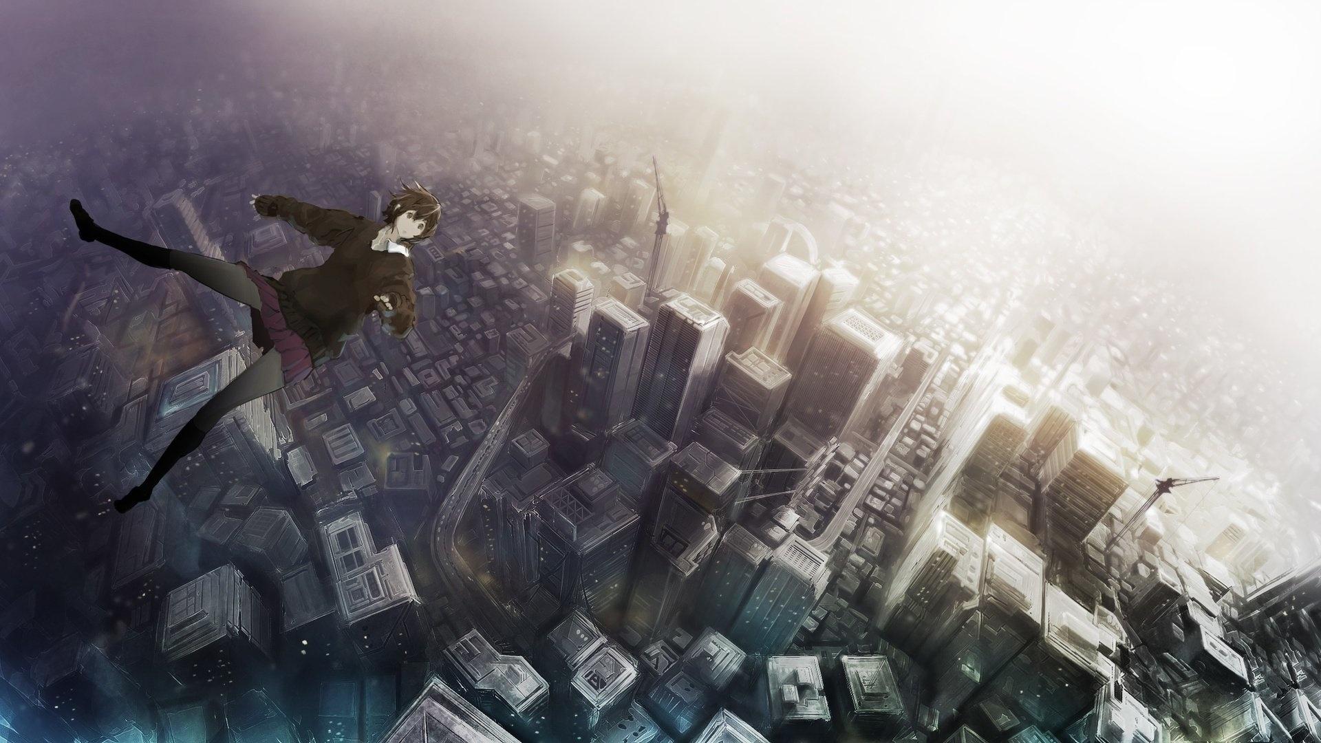 Anime Girls Flying HD Wallpaper