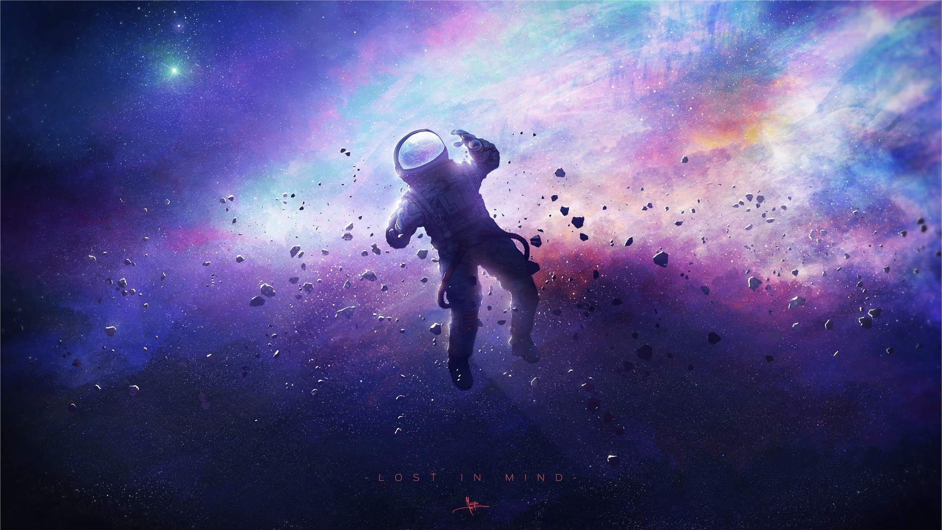 Astronaut Art Wallpaper theme