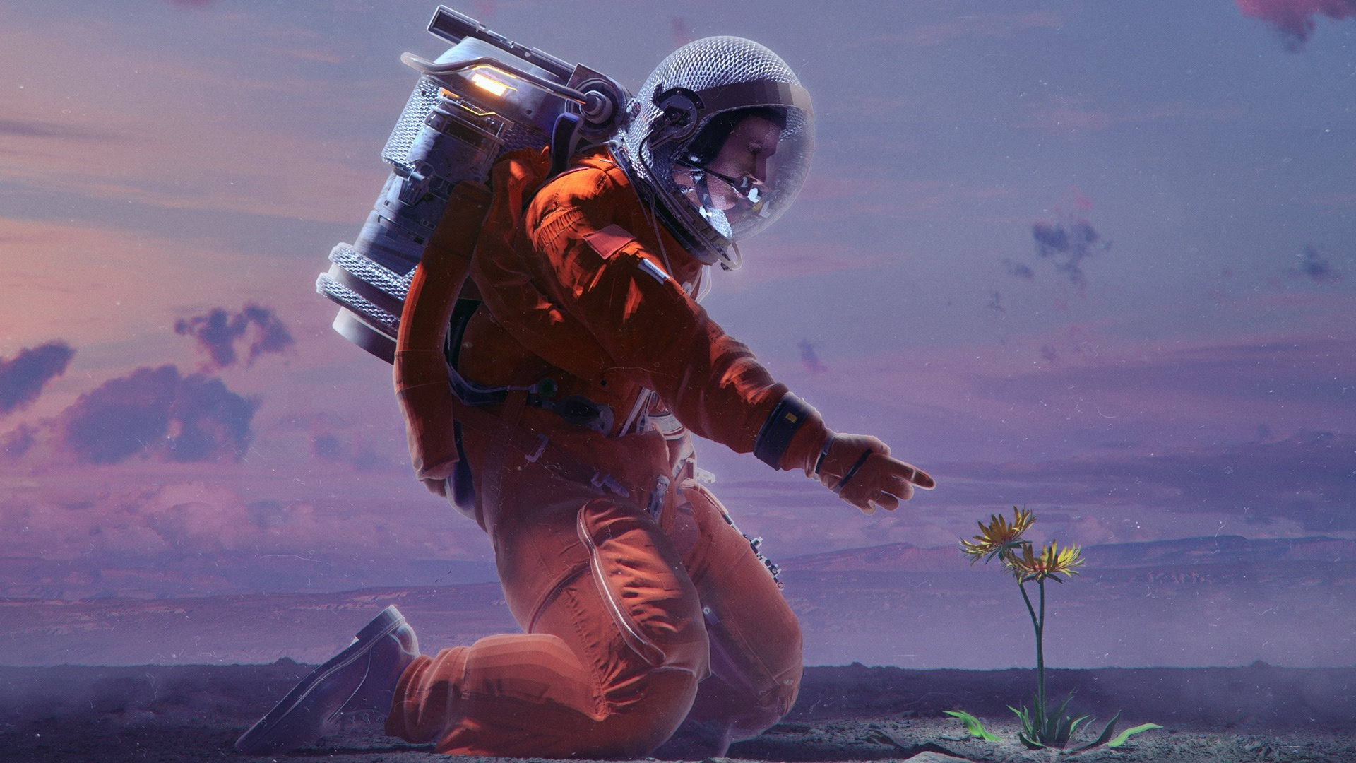 Astronaut Art Wallpaper