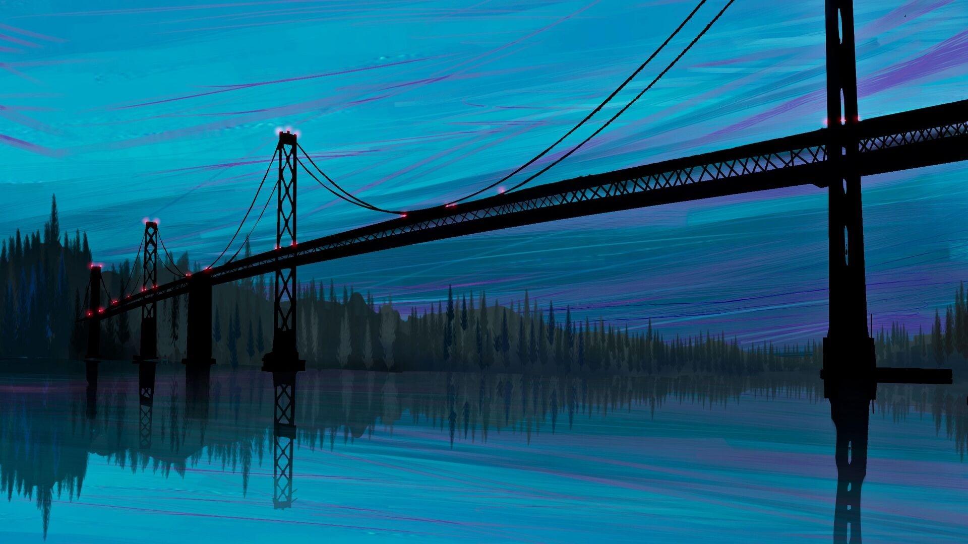Bridge Art desktop wallpaper hd
