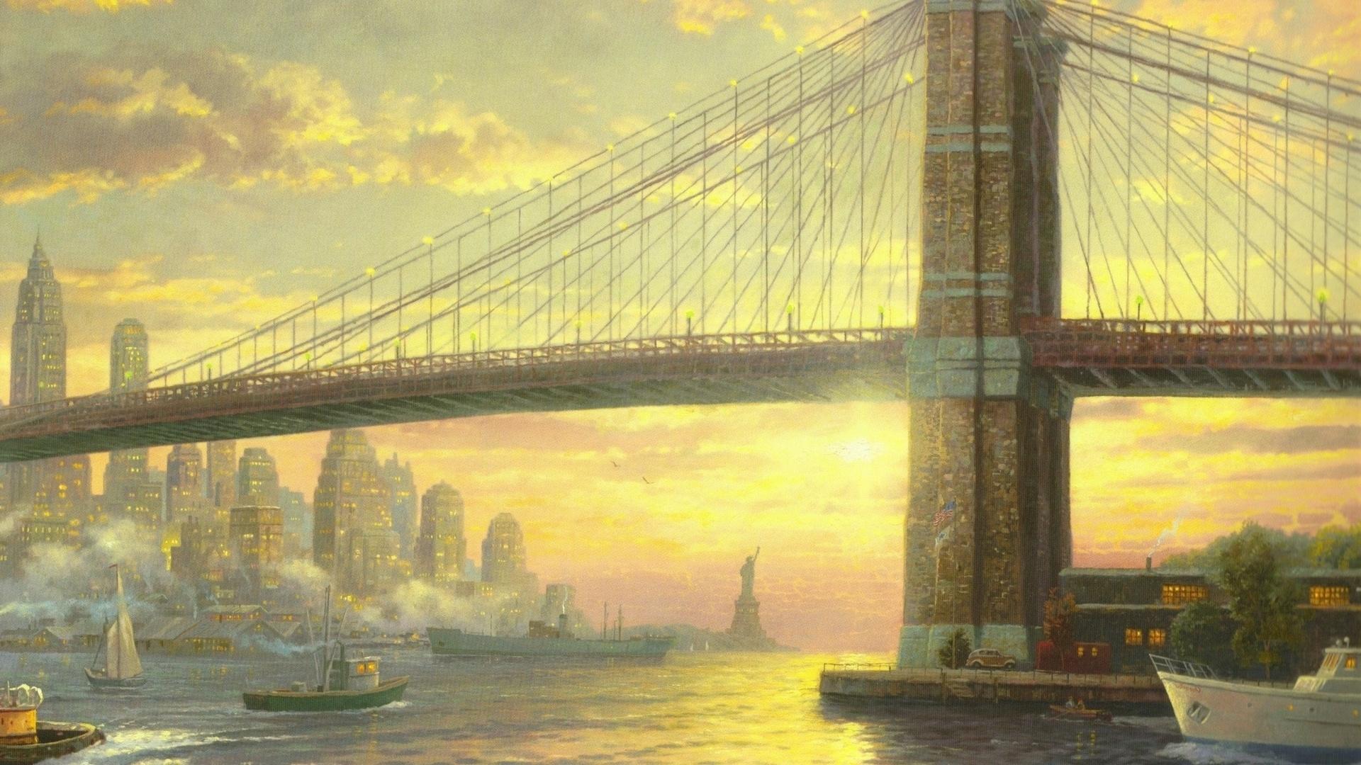 Bridge Art Background
