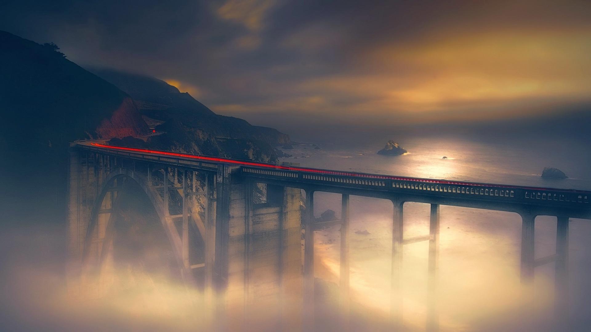 Bridge Art Wallpaper theme
