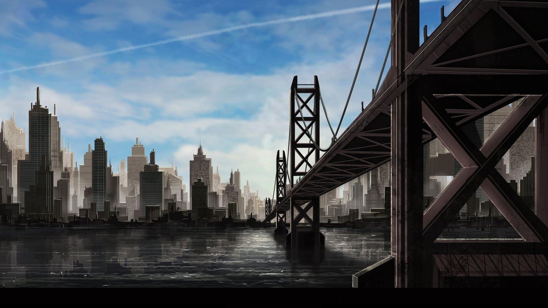 Bridge Art wallpaper for desktop