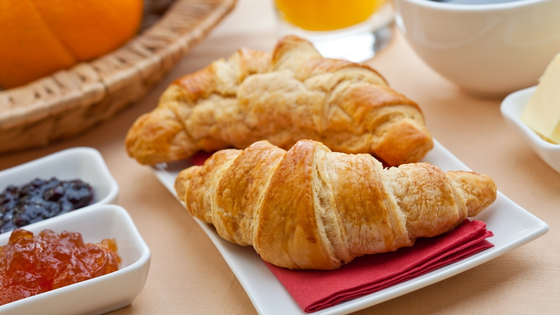 Croissants wallpaper for pc