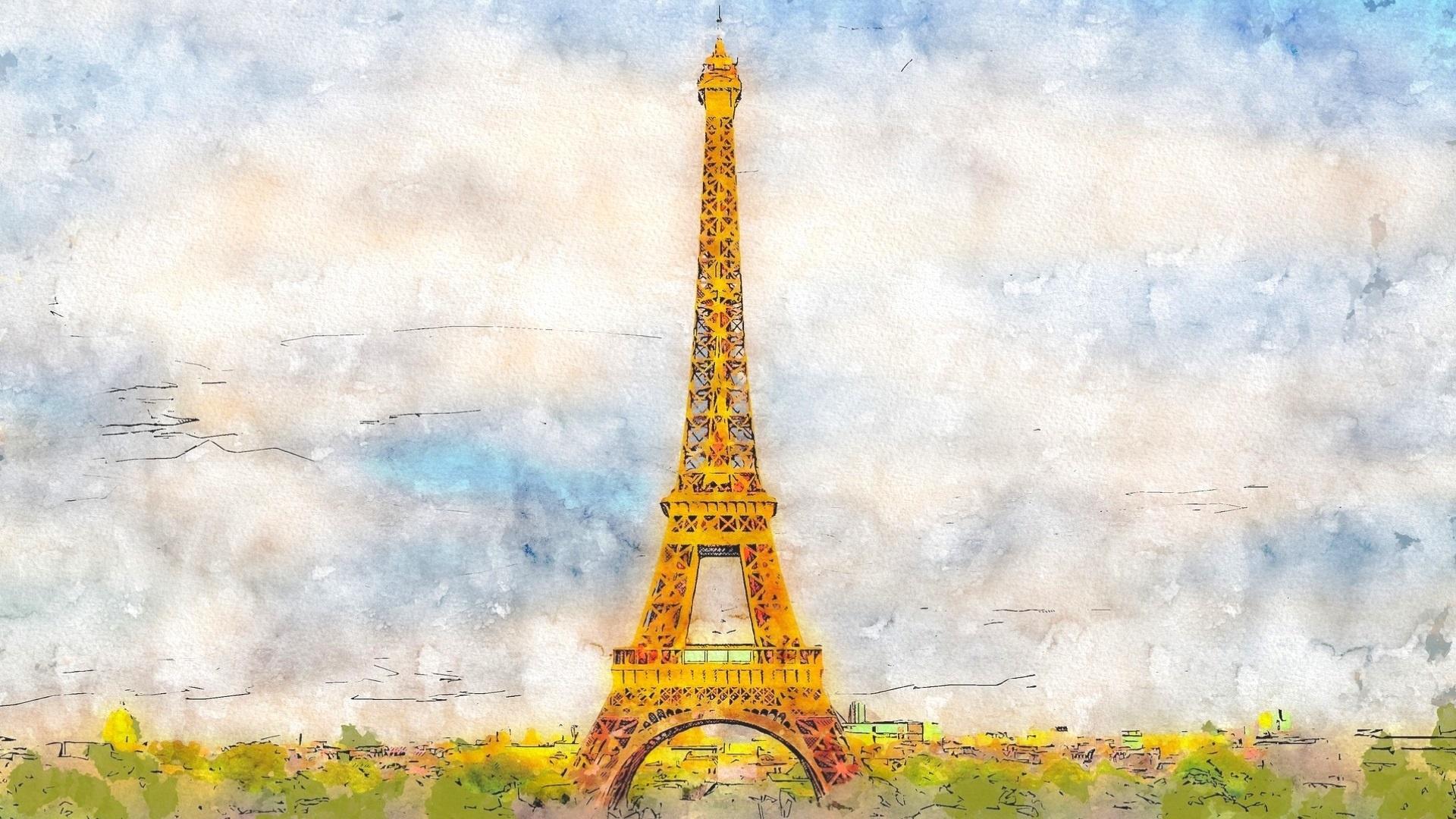 Eiffel Tower Art Background