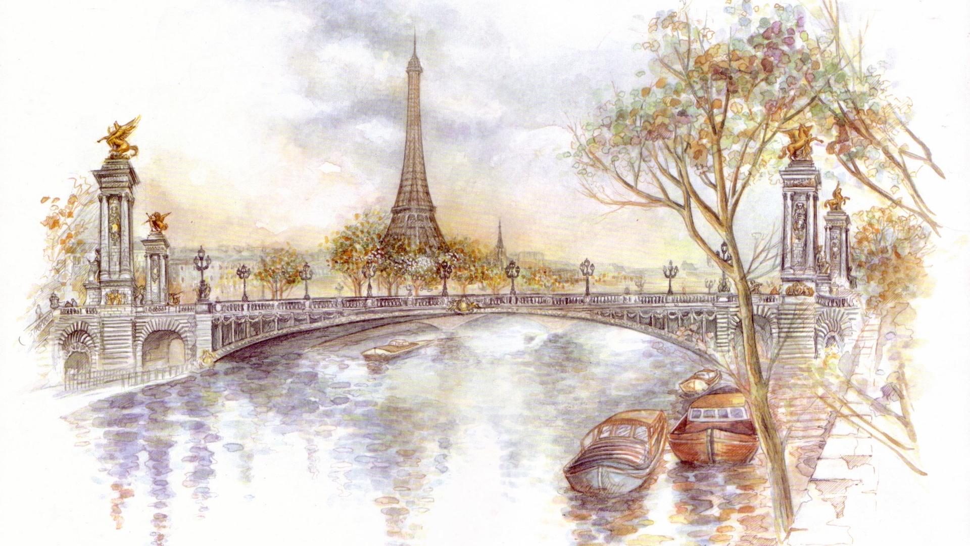 Eiffel Tower Art Wallpaper
