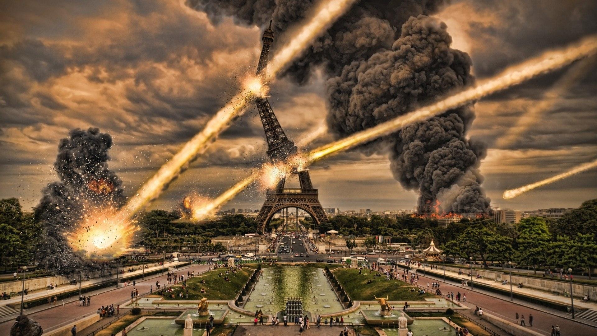 Eiffel Tower Art computer wallpaper