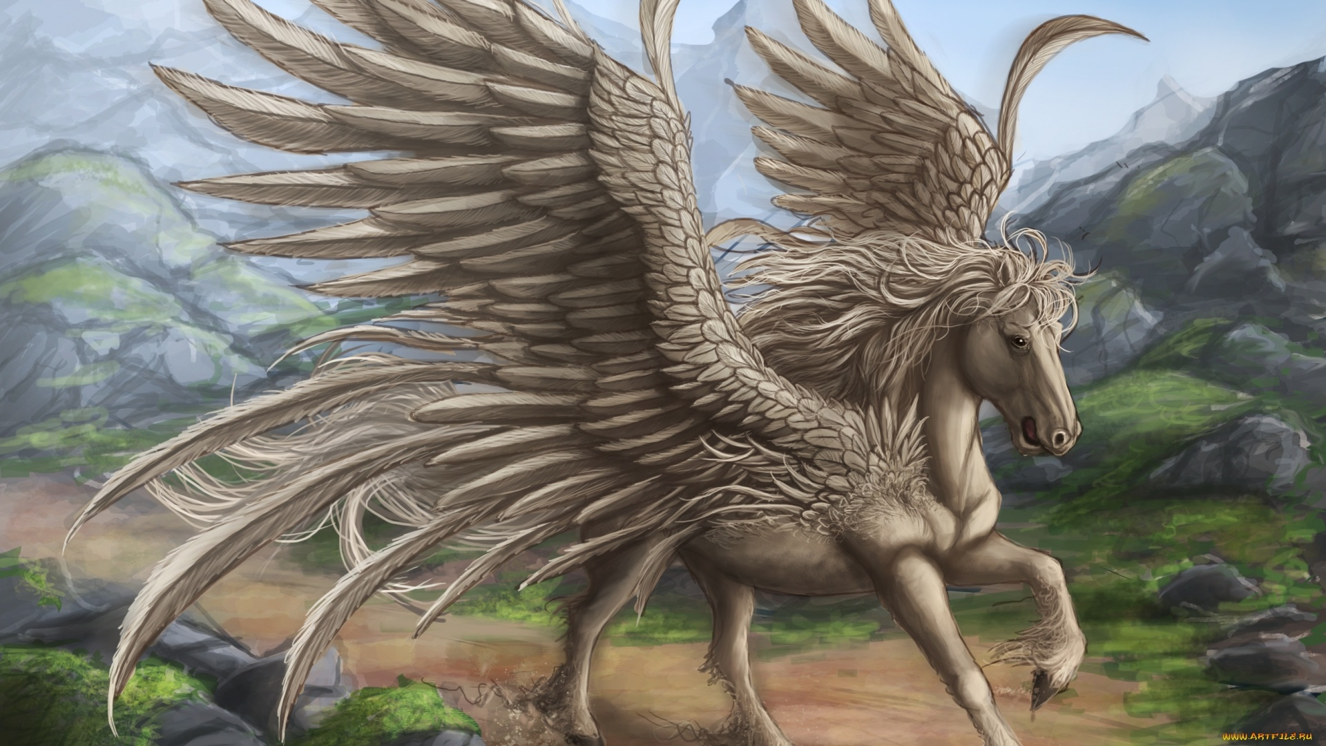 Pegasus Art computer wallpaper