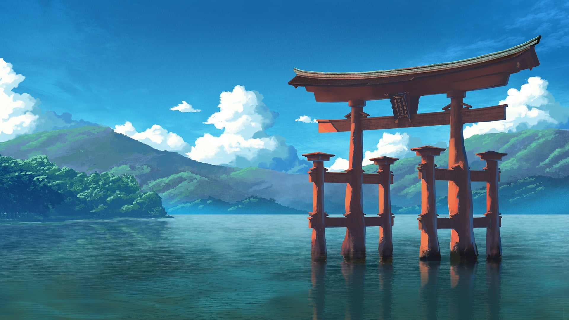 Torii Gate Wallpaper theme