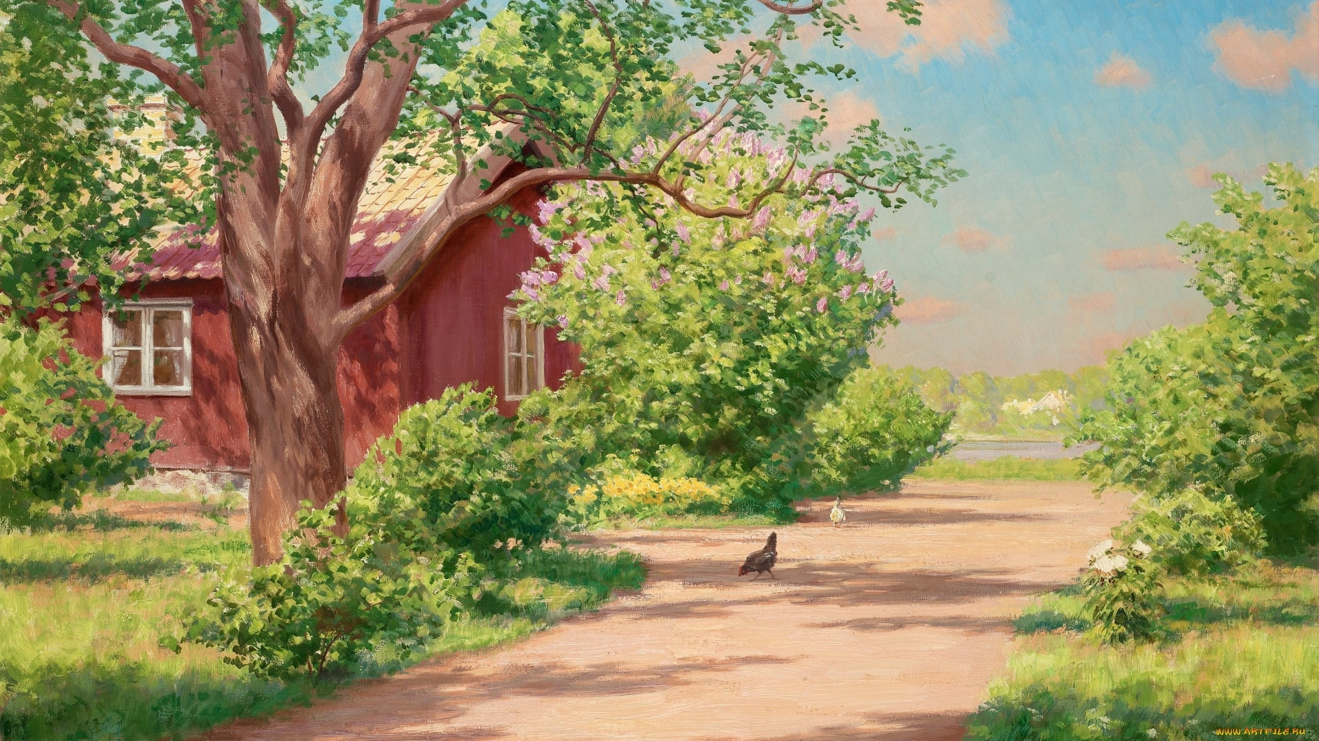 Village House Art HD Wallpaper