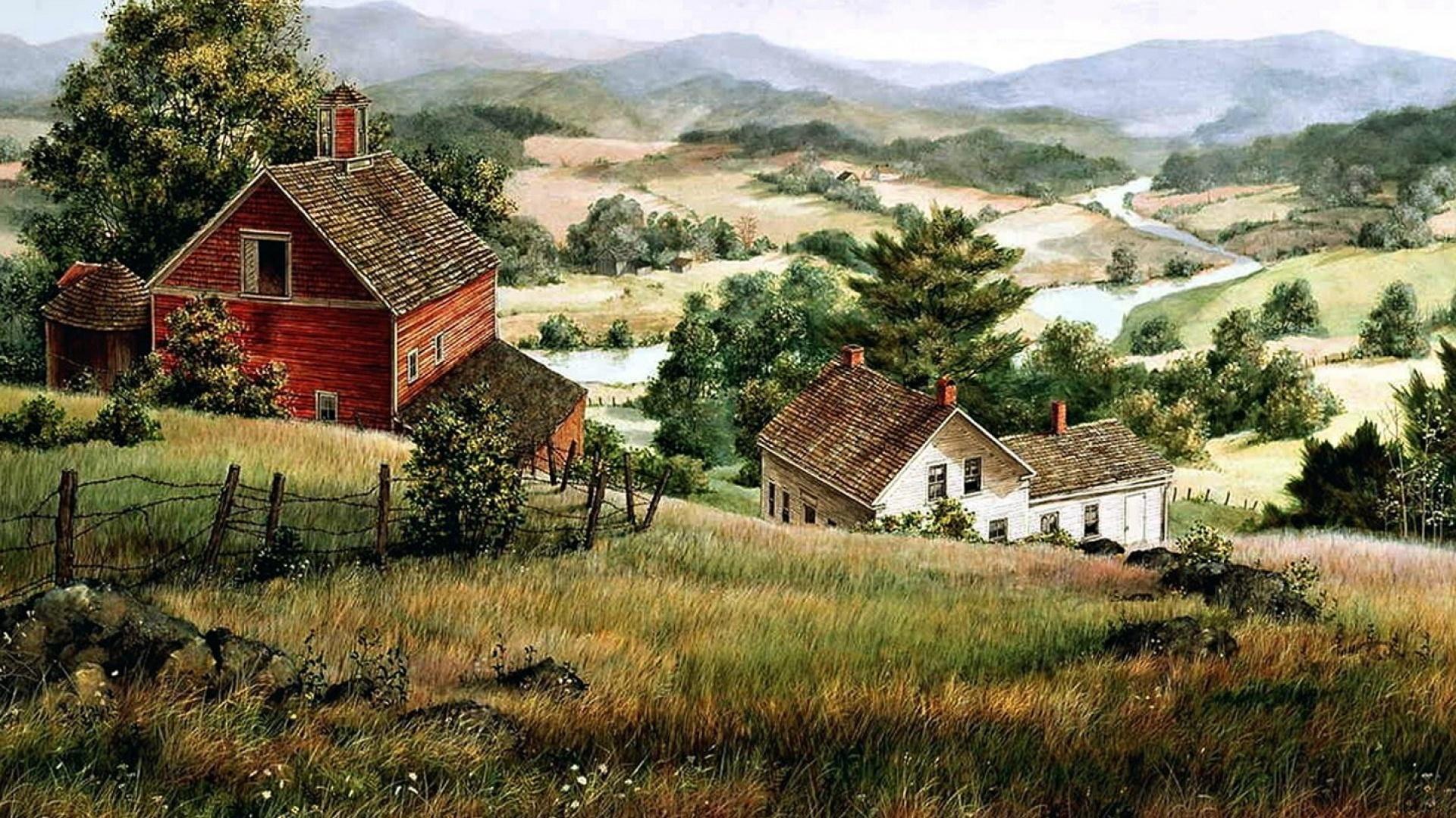 Village House Art Picture