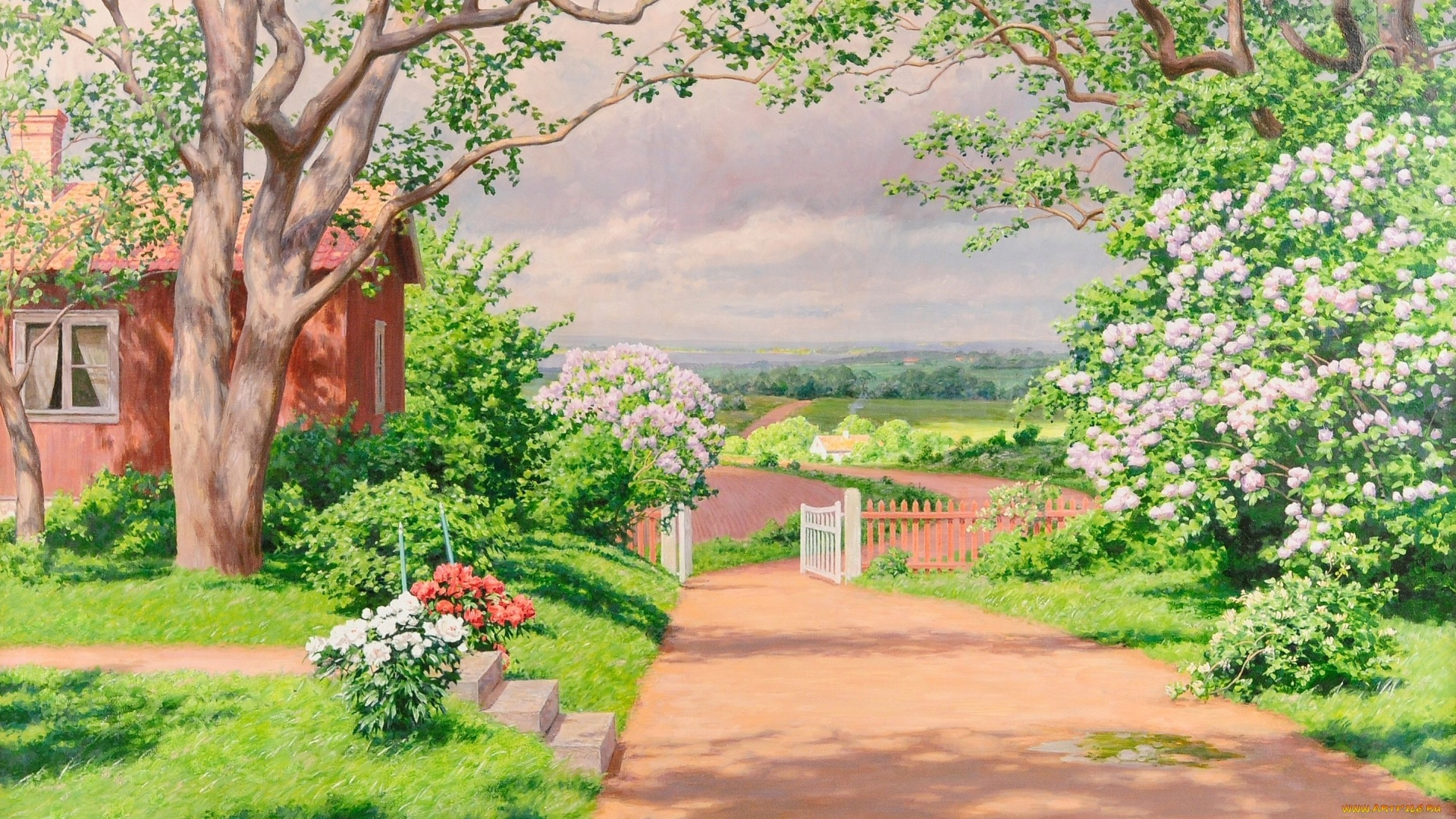 Village House Art Image