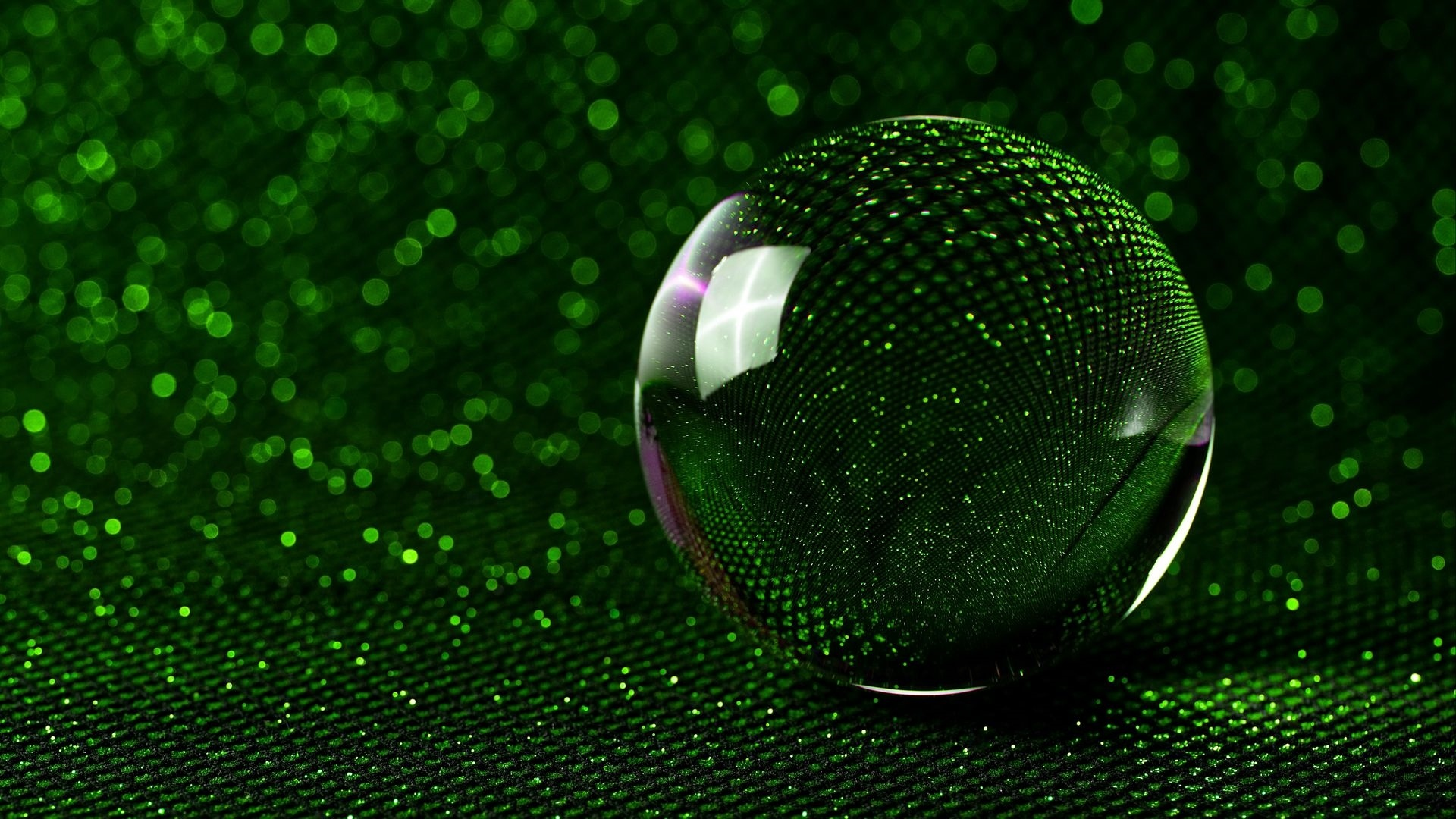 Ball Glass Wallpaper theme