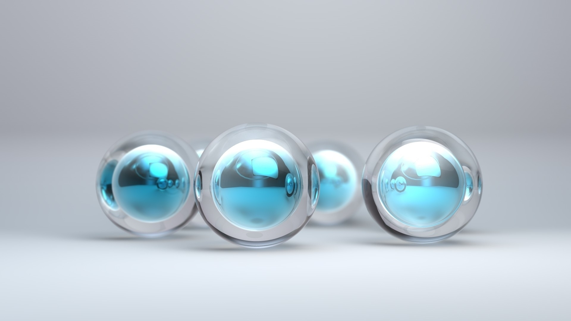 Ball Glass Desktop Wallpaper