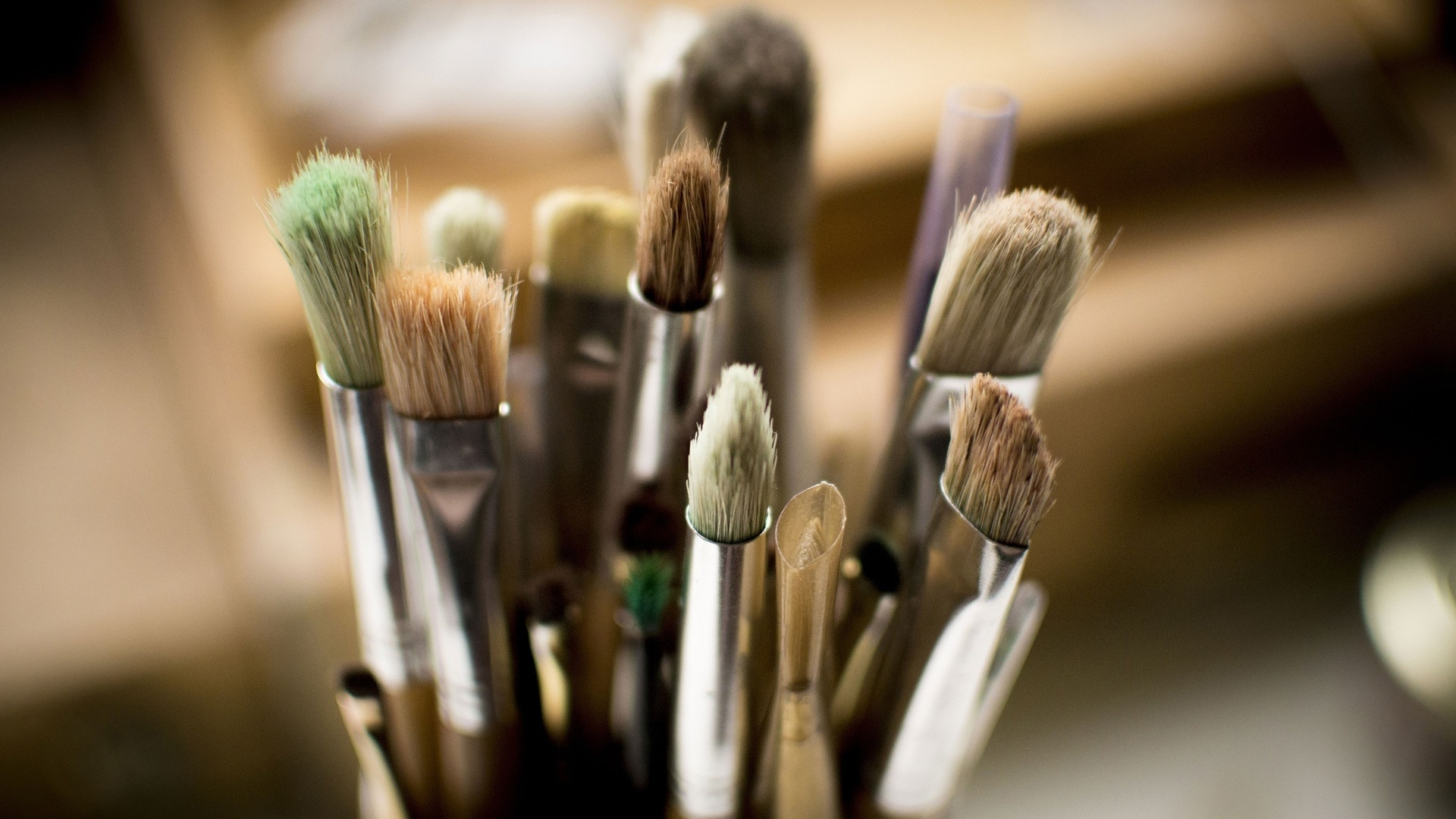 Brushes And Paint HD Wallpaper
