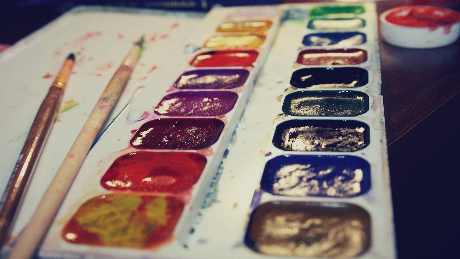 Brushes And Paint desktop wallpaper hd
