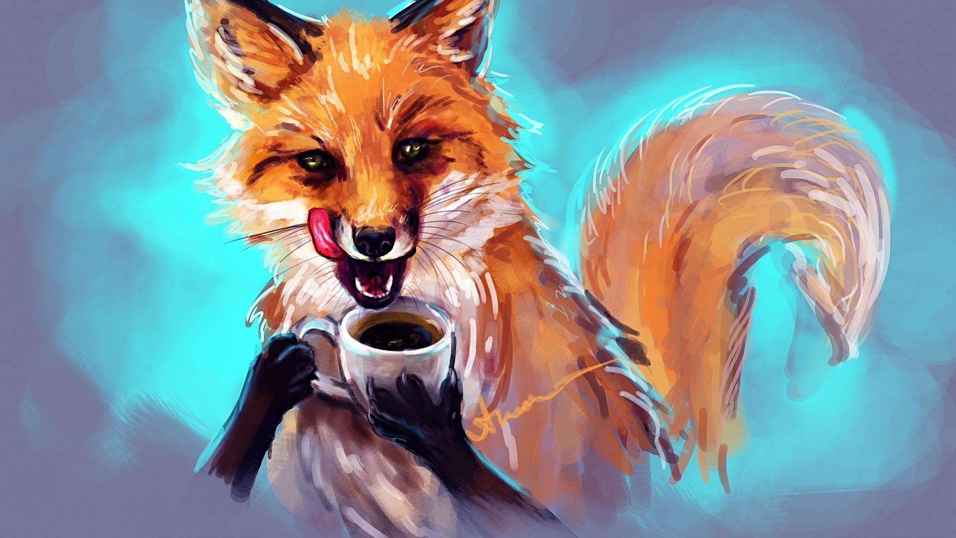 Fox Art Wallpaper