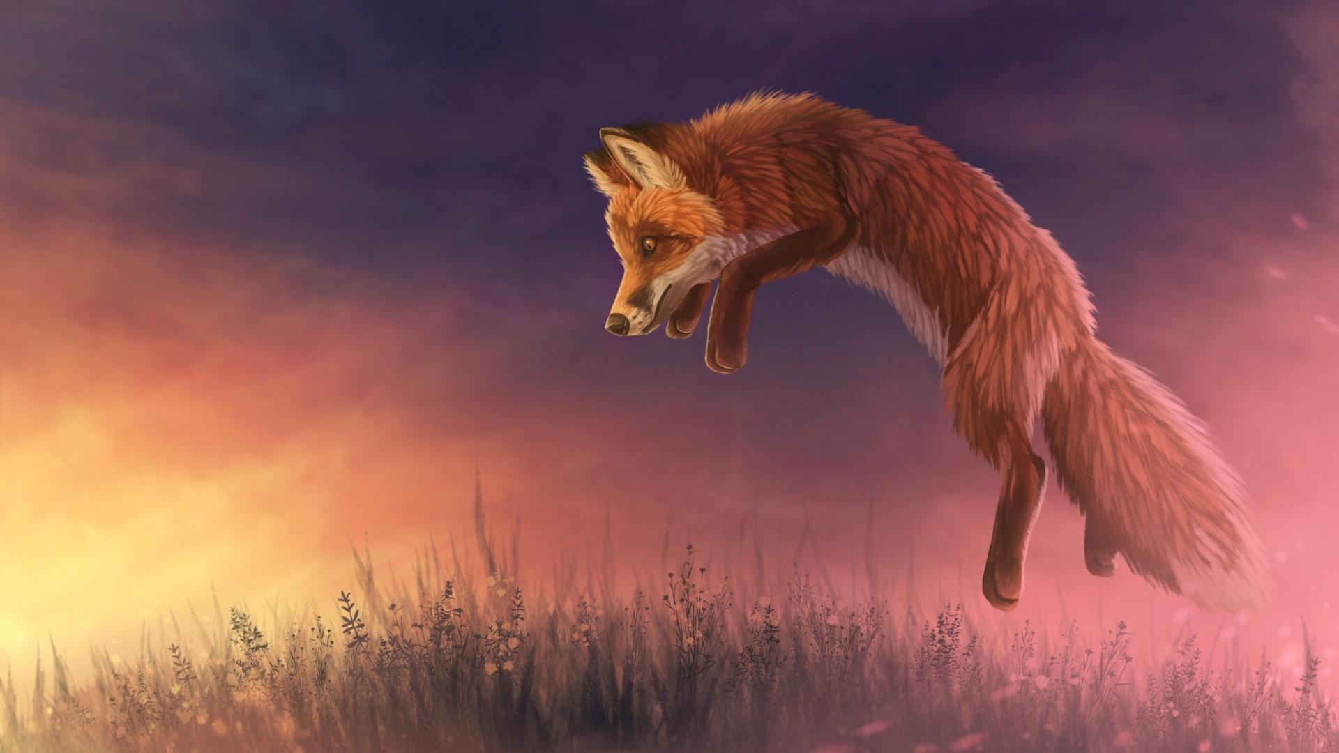 Fox Art Background