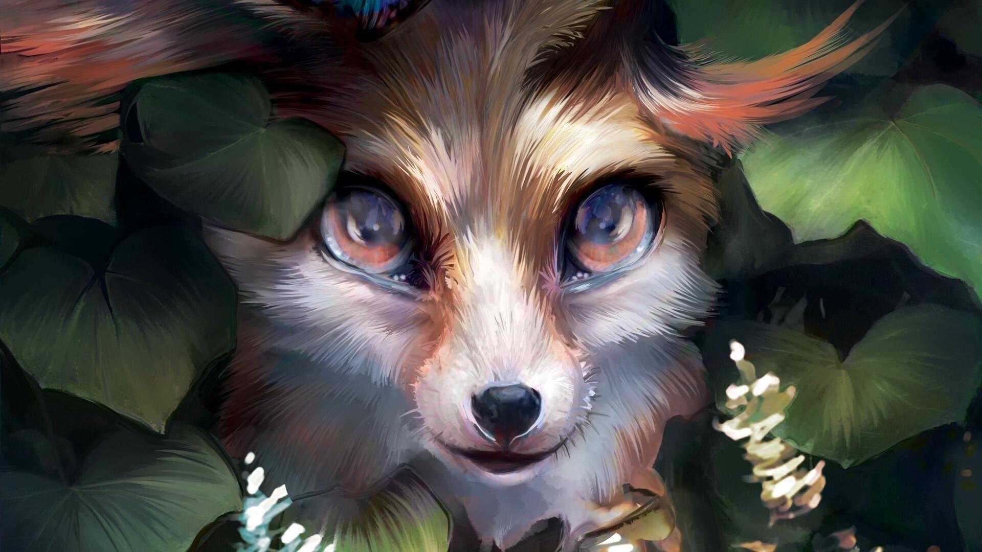 Fox Art Wallpaper theme