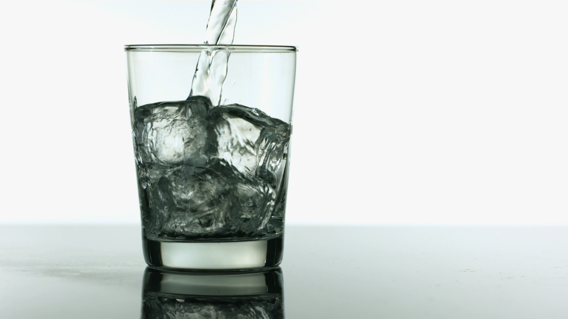 Ice In A Glass Background