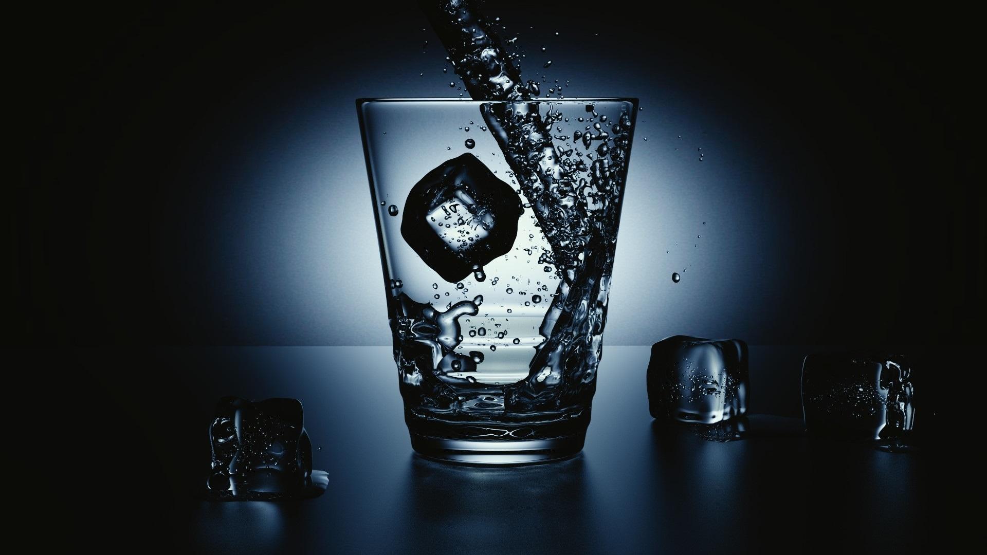 Ice In A Glass desktop wallpaper hd