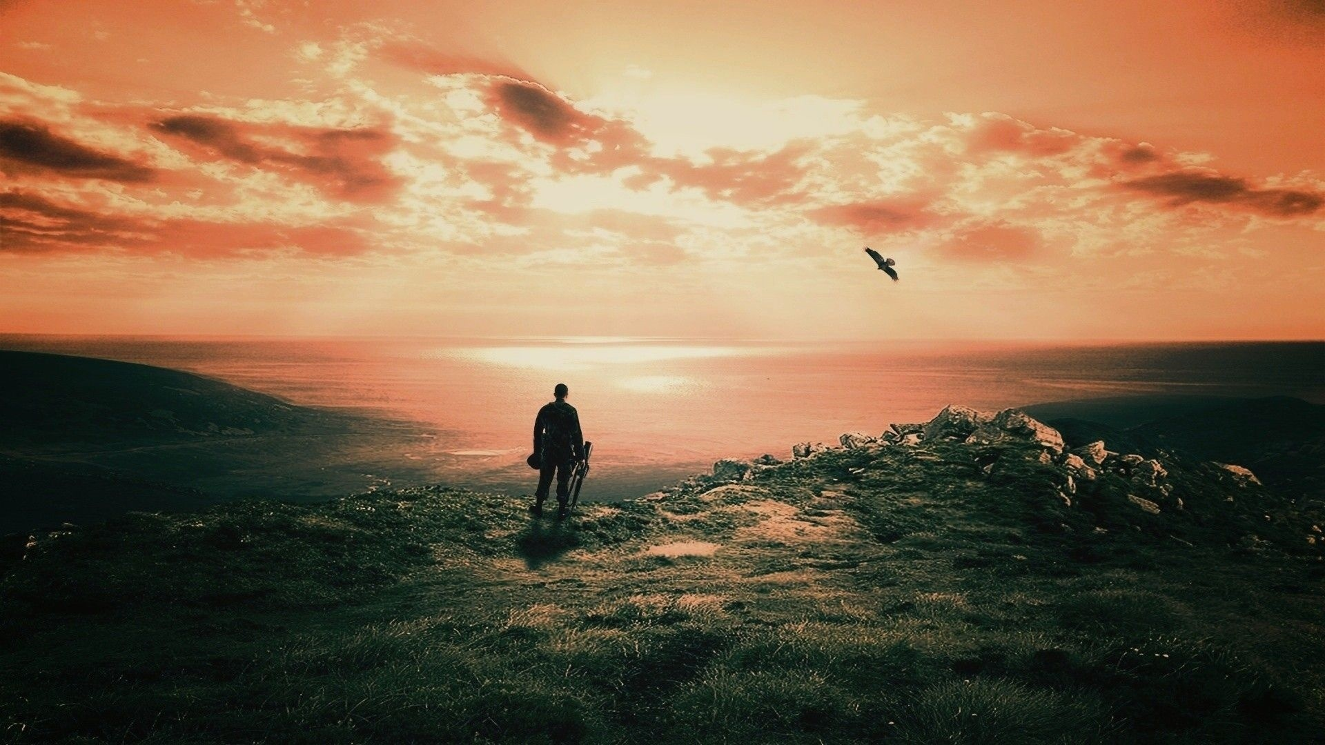 Loneliness And Wind Wallpaper