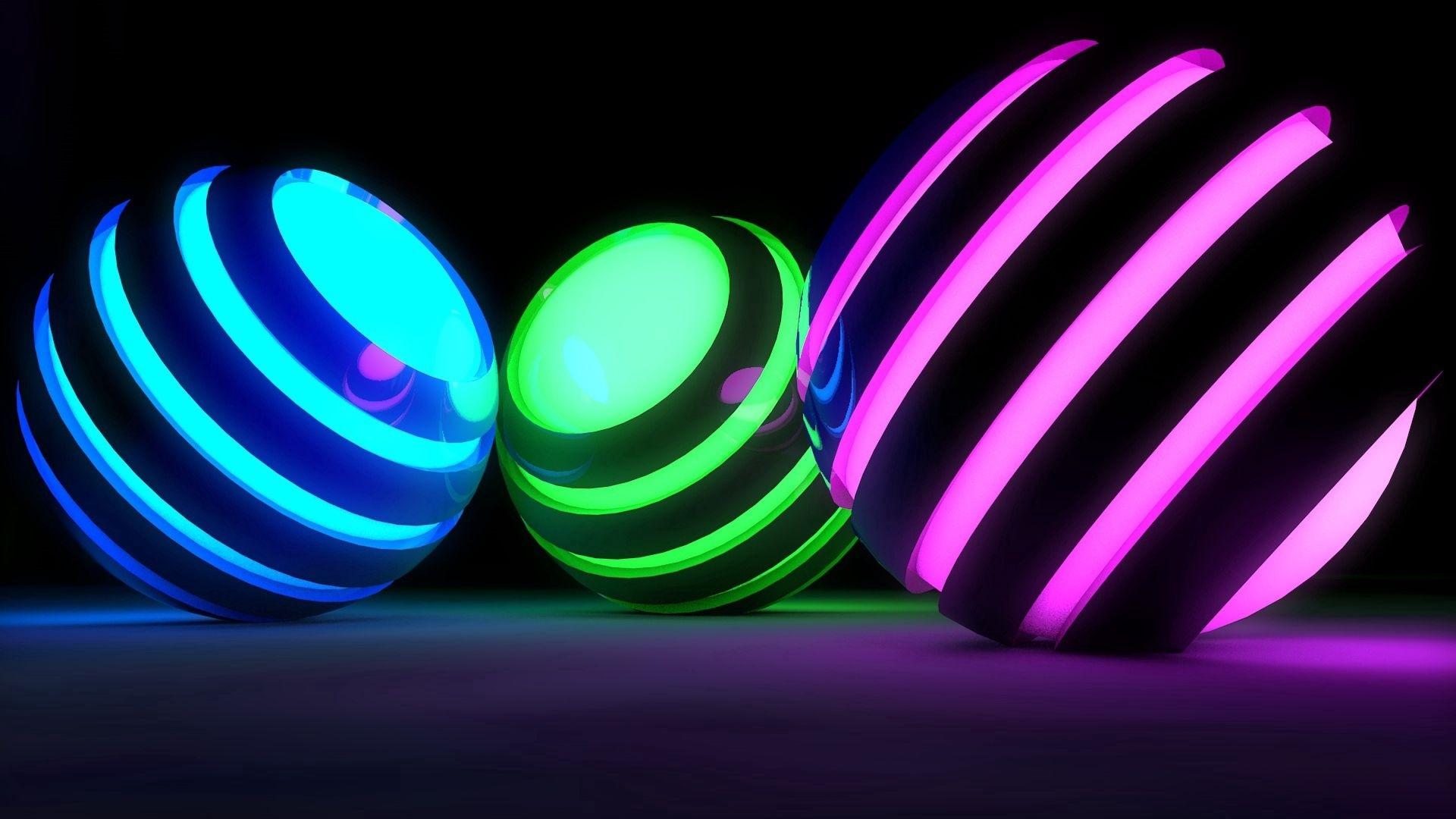 Neon Balloon desktop wallpaper hd