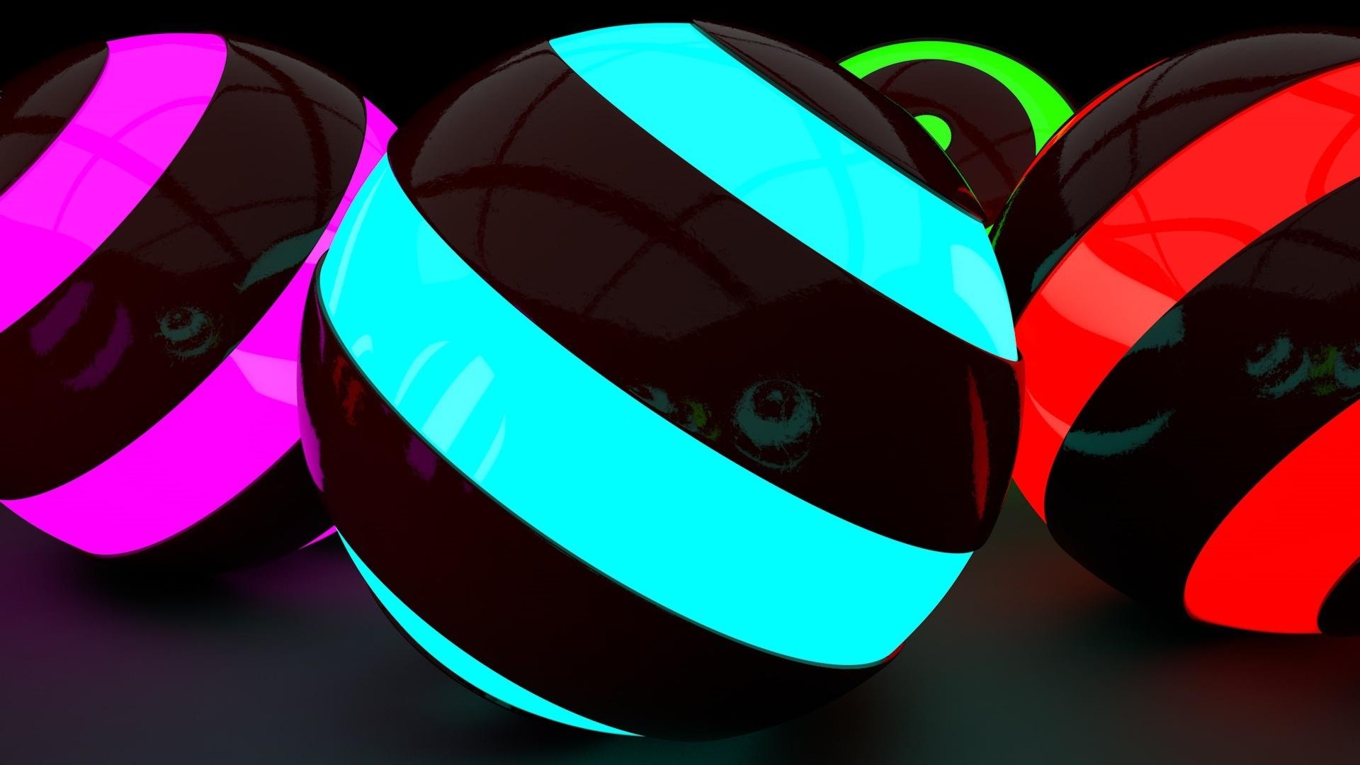 Neon Balloon wallpaper for computer