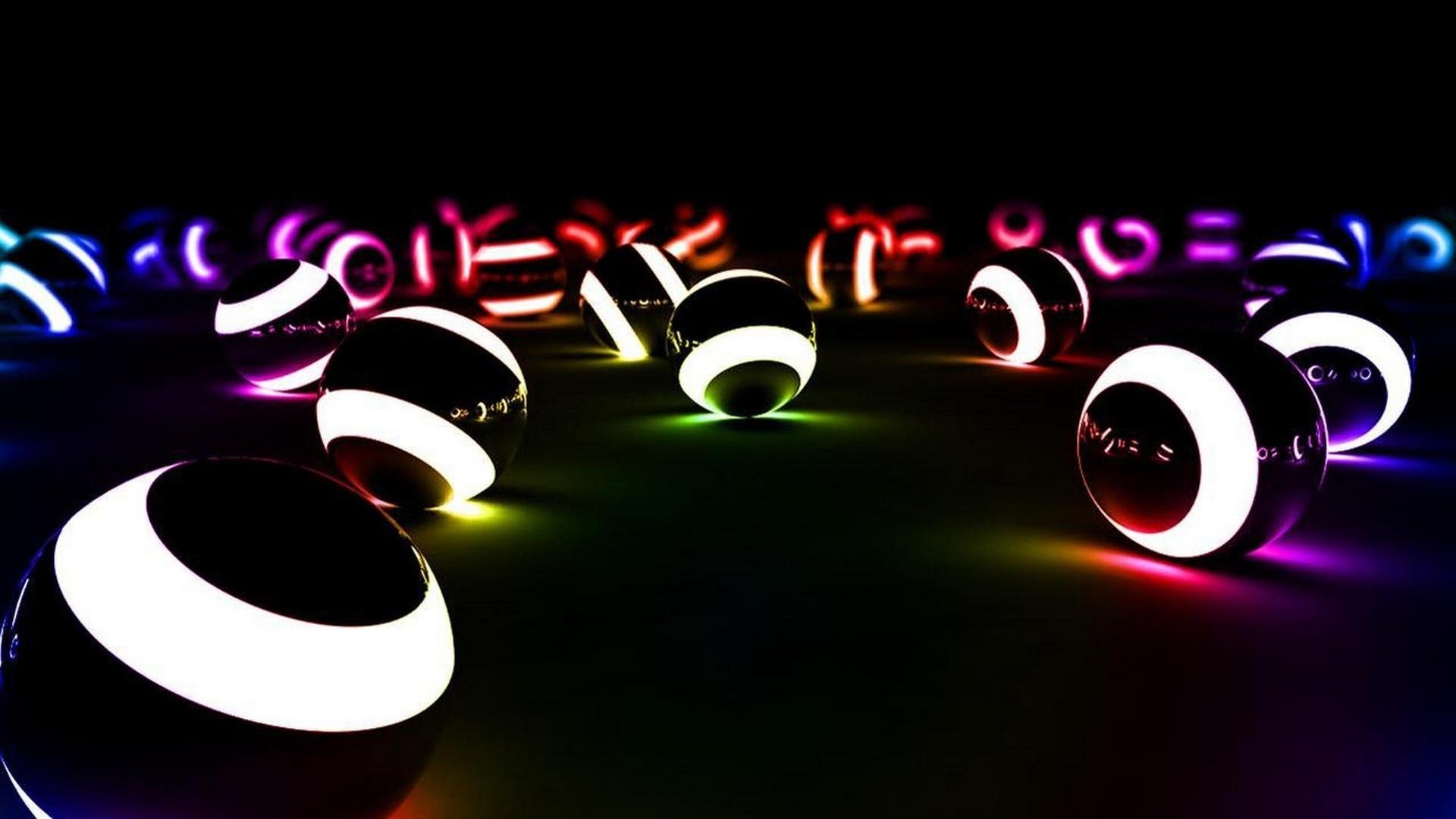 Neon Balloon Desktop Wallpaper