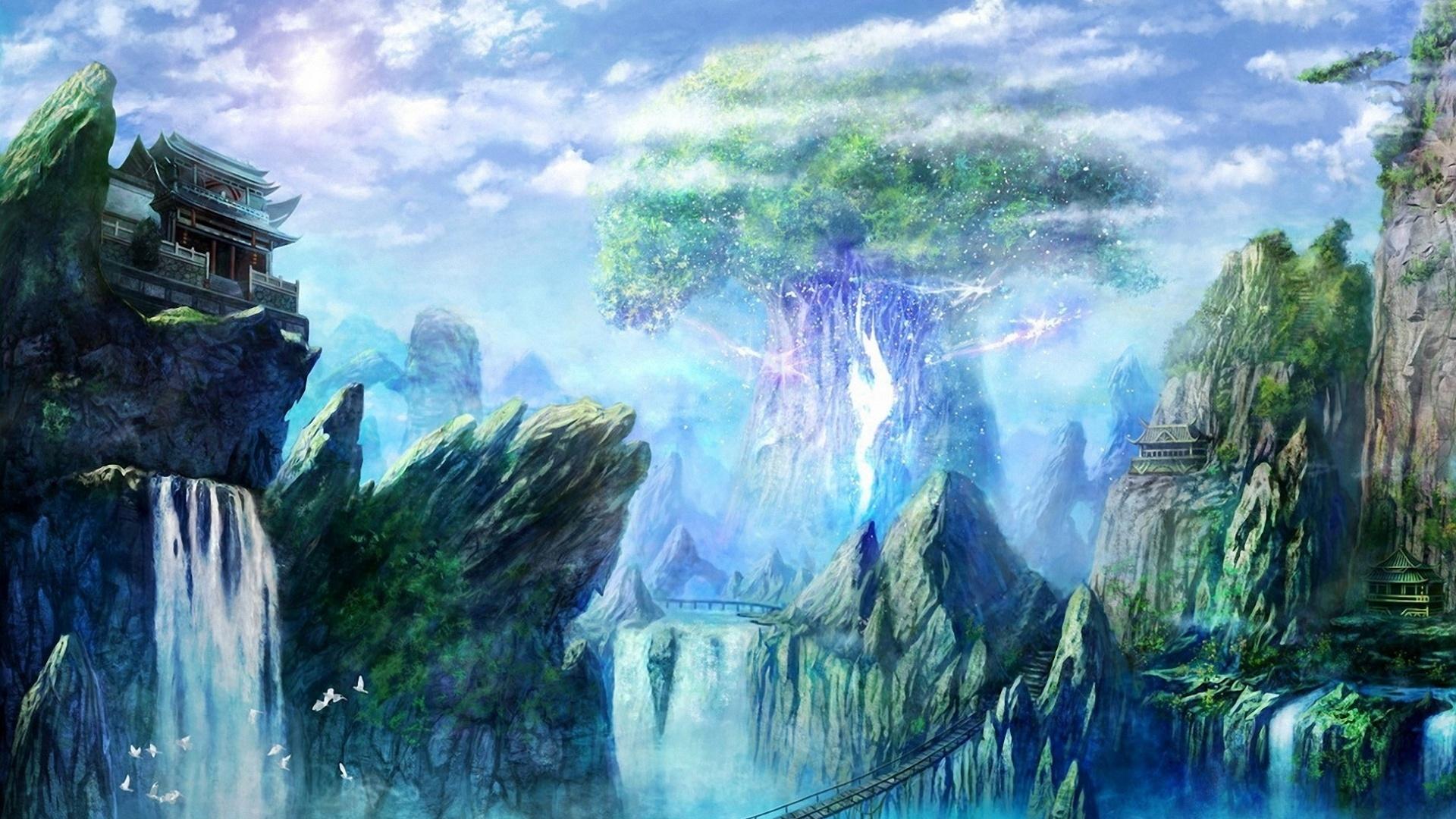 Paradise Art Wallpaper theme