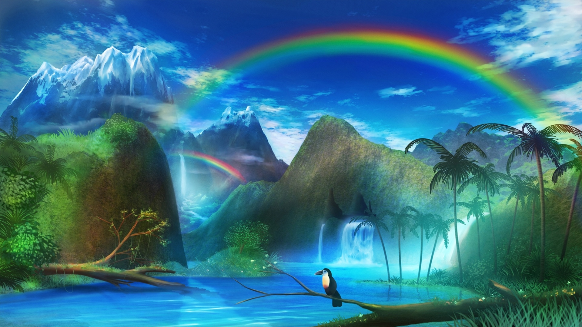 Paradise Art Wallpaper