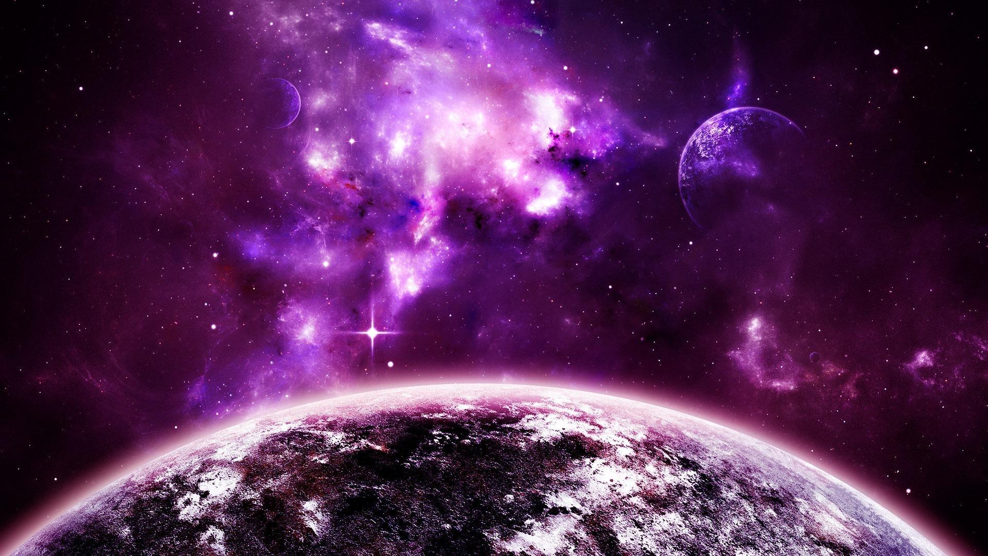 Purple Space Wallpaper