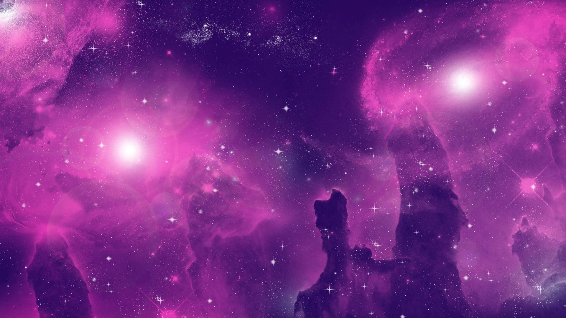 Purple Space Wallpaper theme