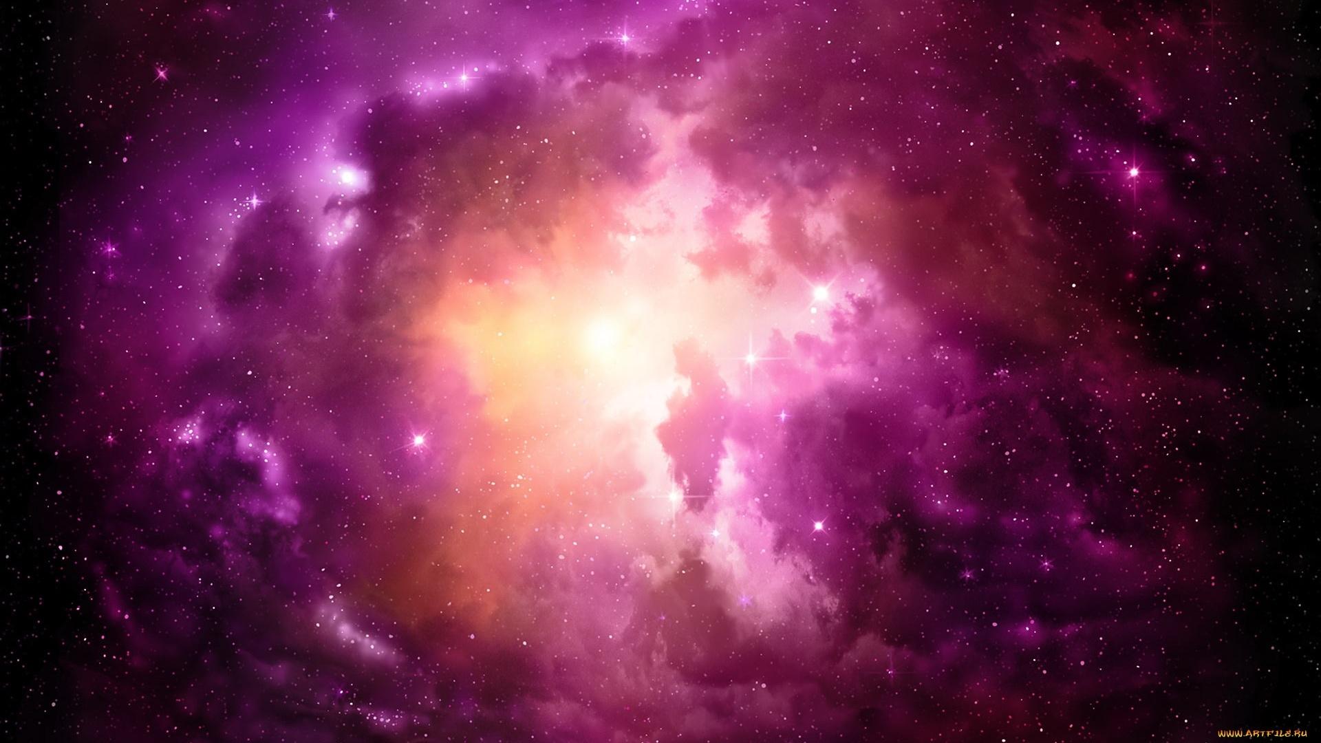 Purple Space Desktop Wallpaper
