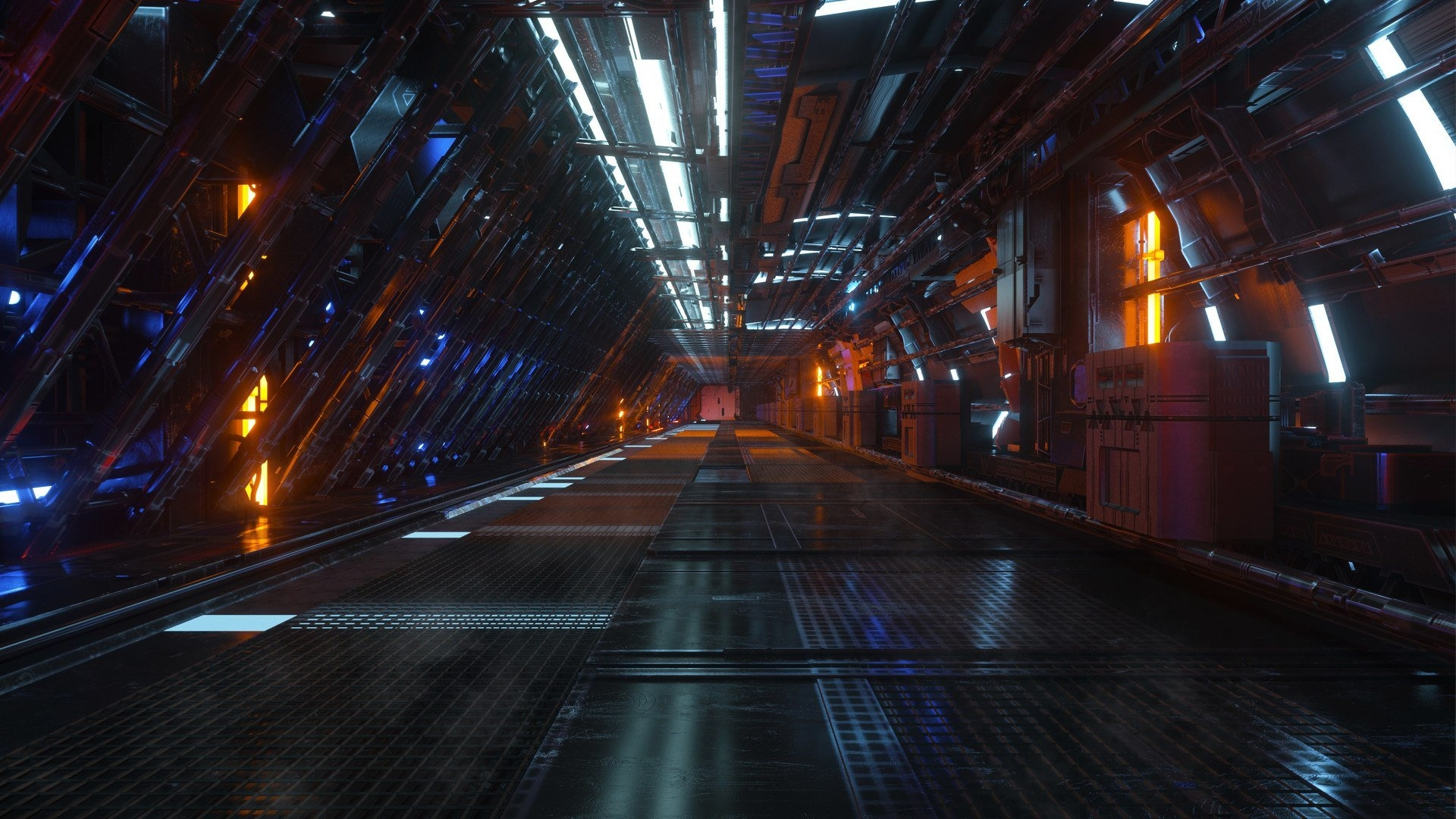 Space Tunnel Wallpaper theme
