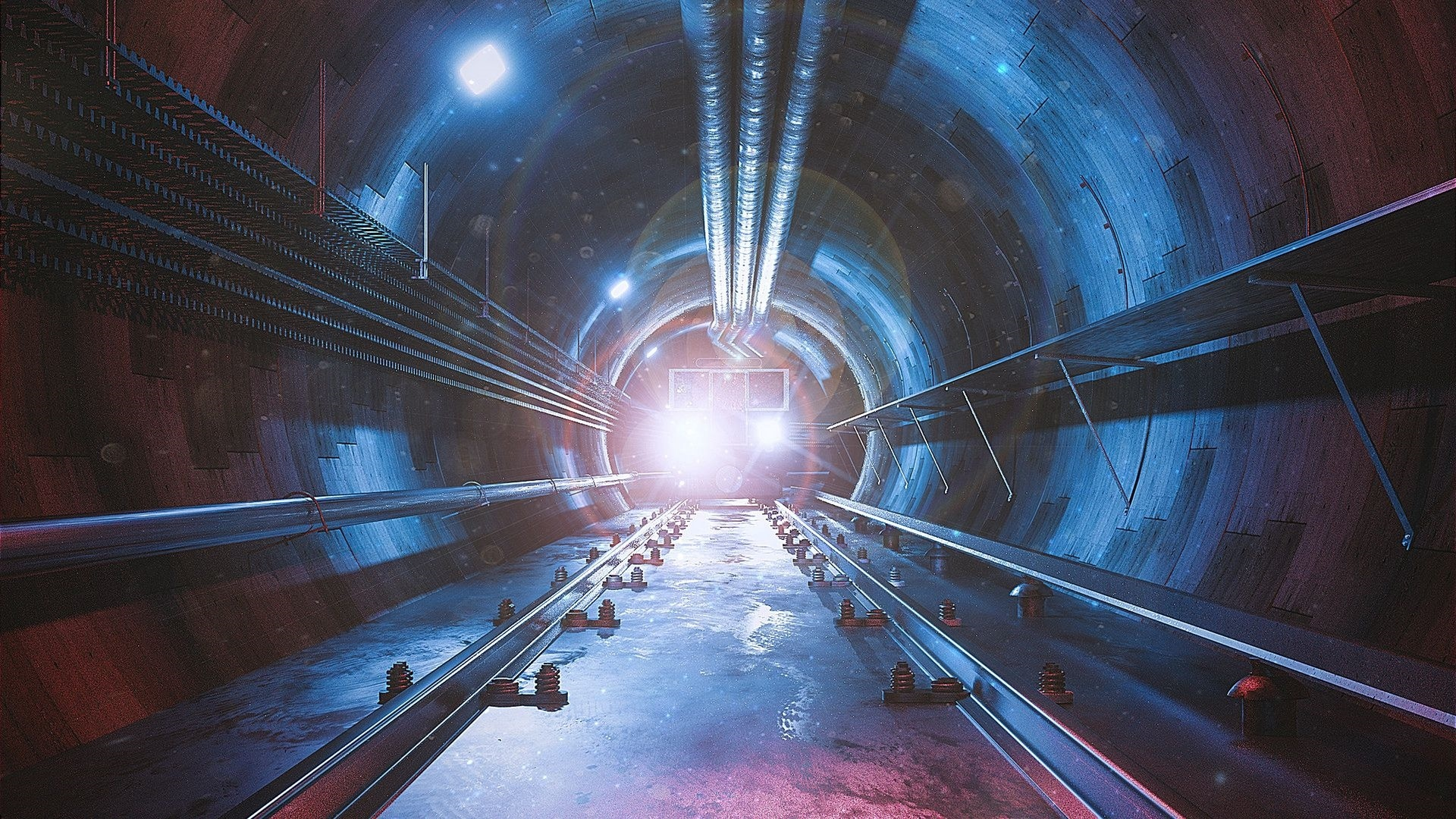 Space Tunnel Background