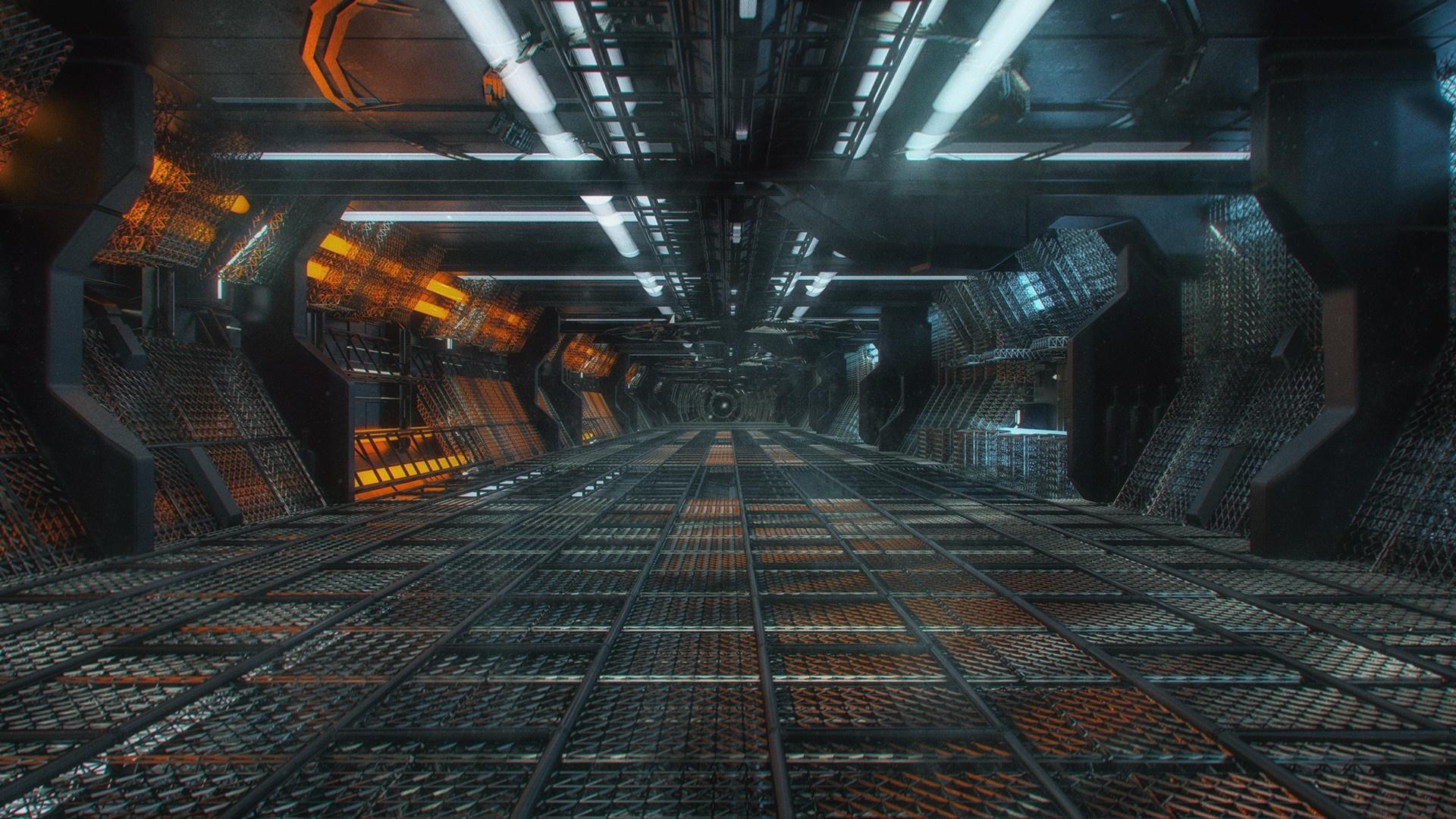 Space Tunnel Desktop Wallpaper