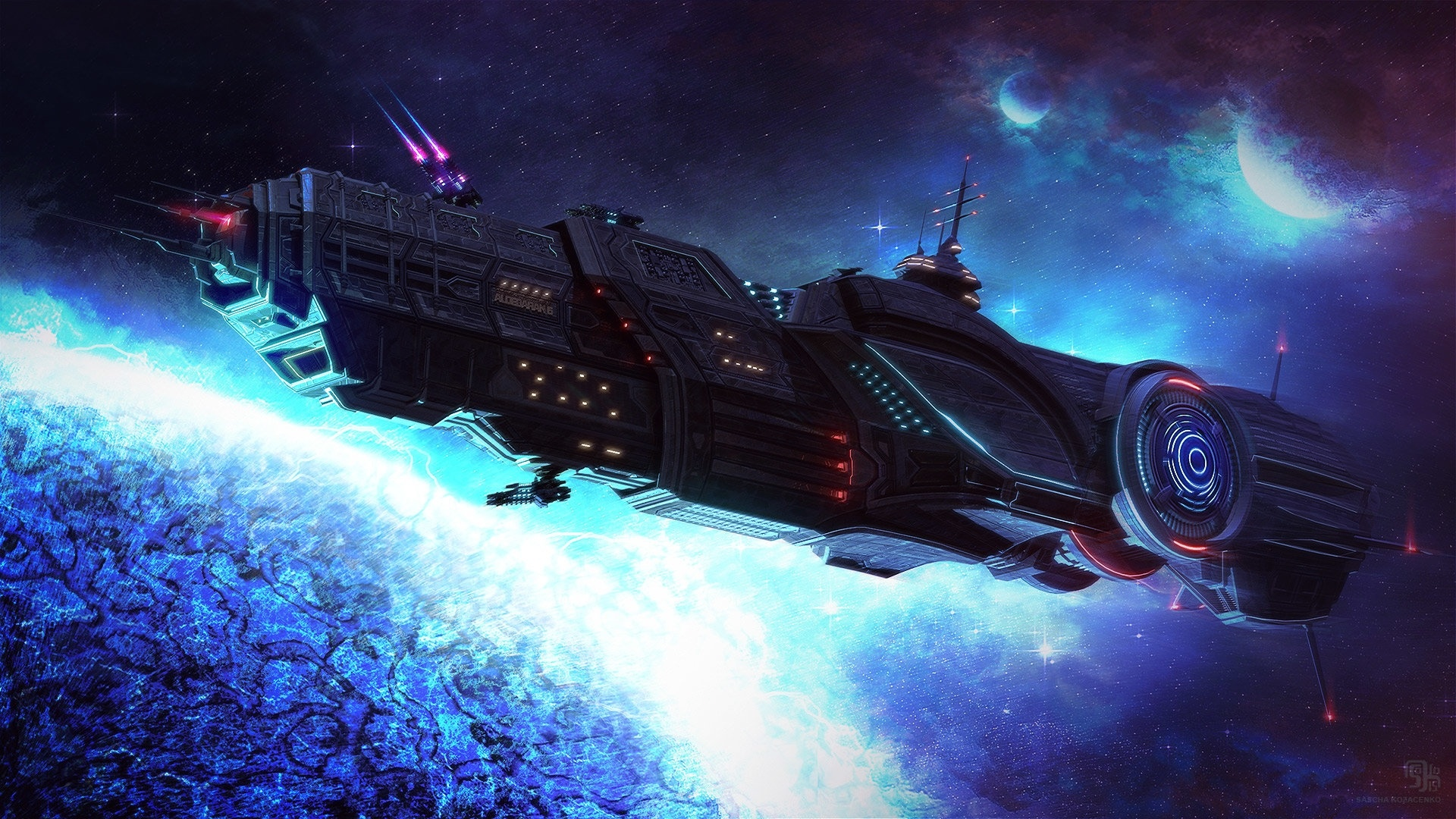 Spaceships Art Picture