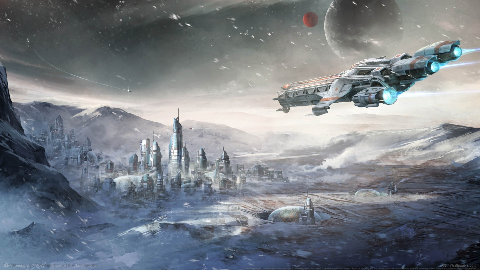 Spaceships Art HD Wallpaper