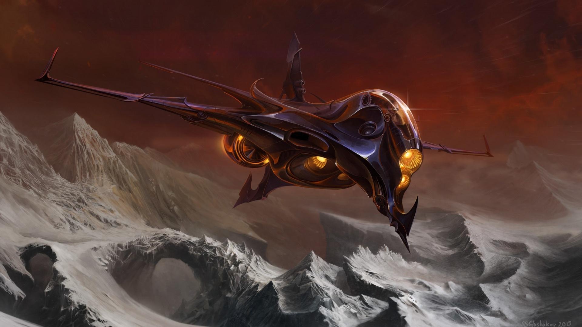 Spaceships Art wallpaper for desktop
